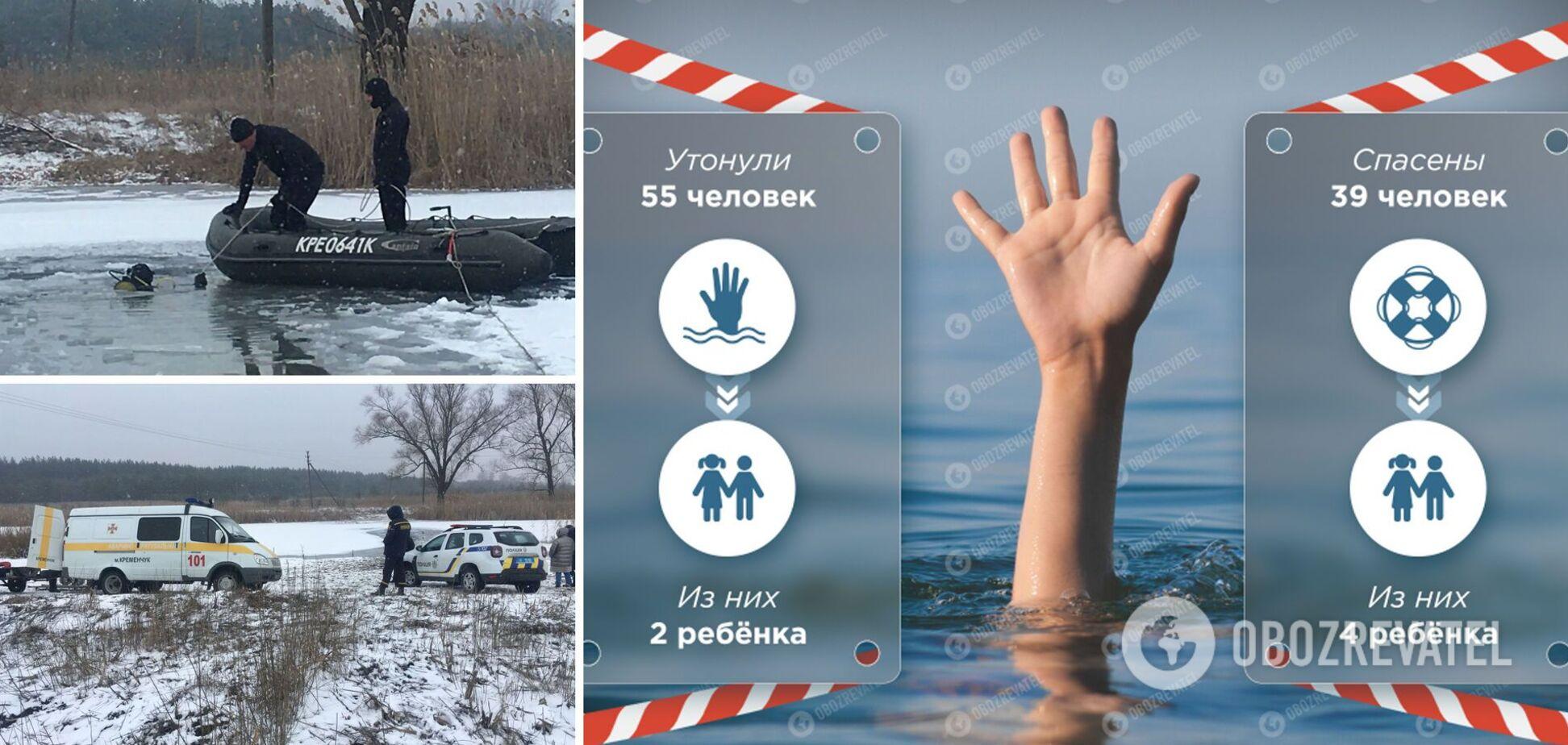 На Полтавщині мама і дочка провалилися під лід: подробиці смертельної трагедії