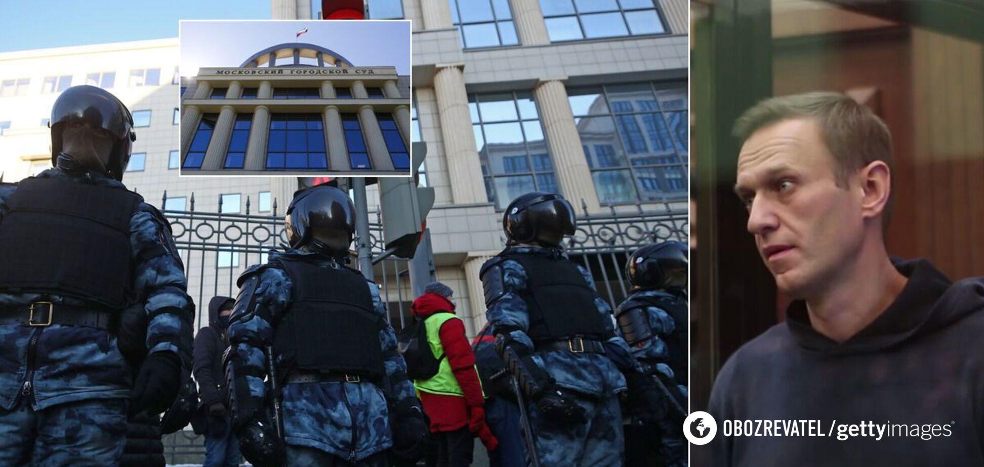 В Москве снова судят Навального: сотни людей задержали. Фото