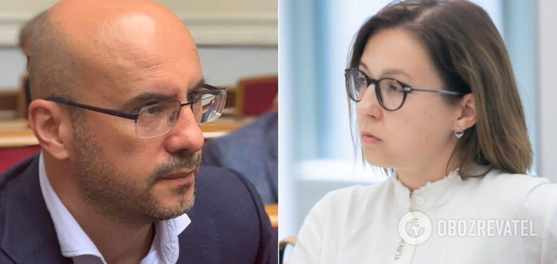 Нардепы Сергей Рудык и Инна Совсун