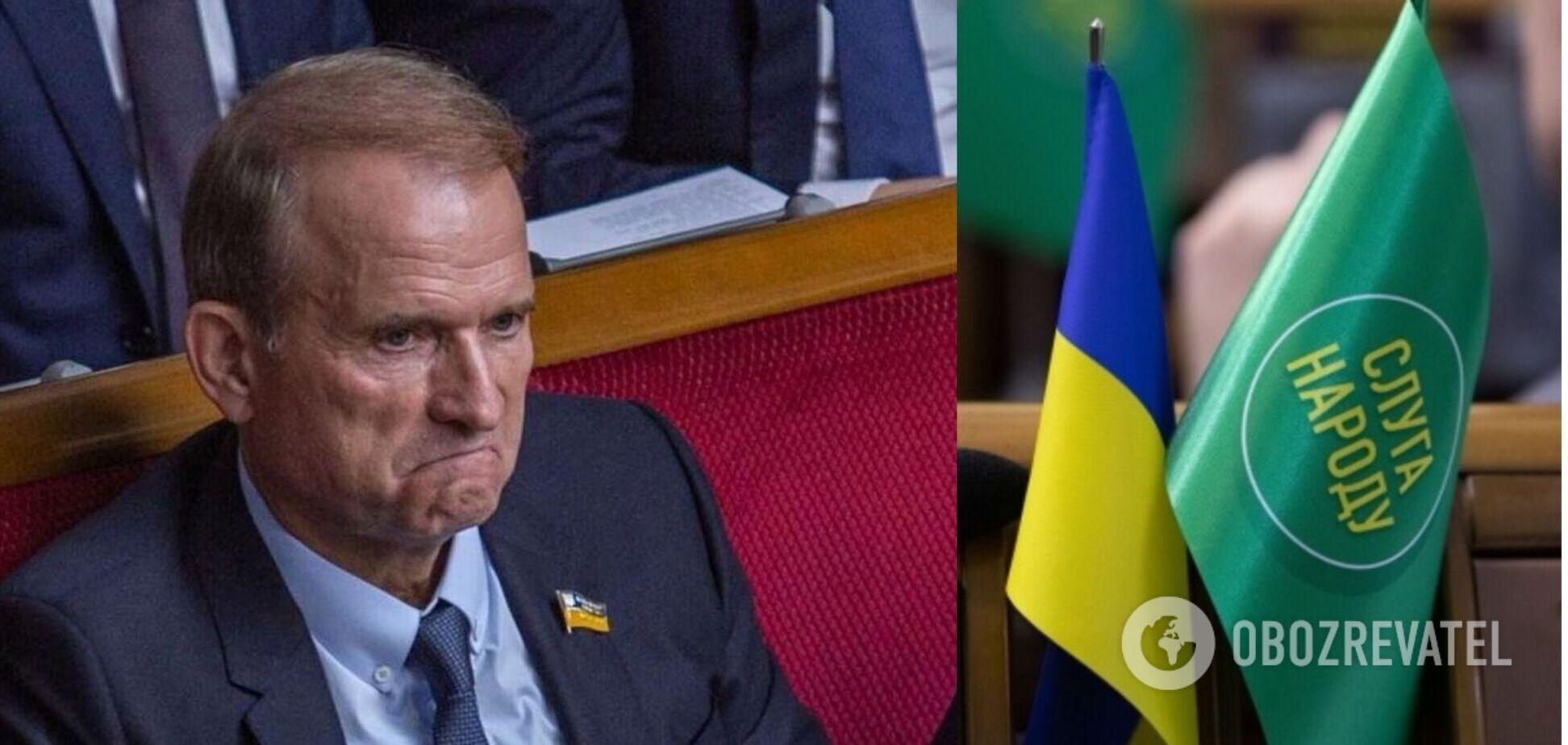На санкции против Медведчука не отреагировала почти ни одна парламентская партия