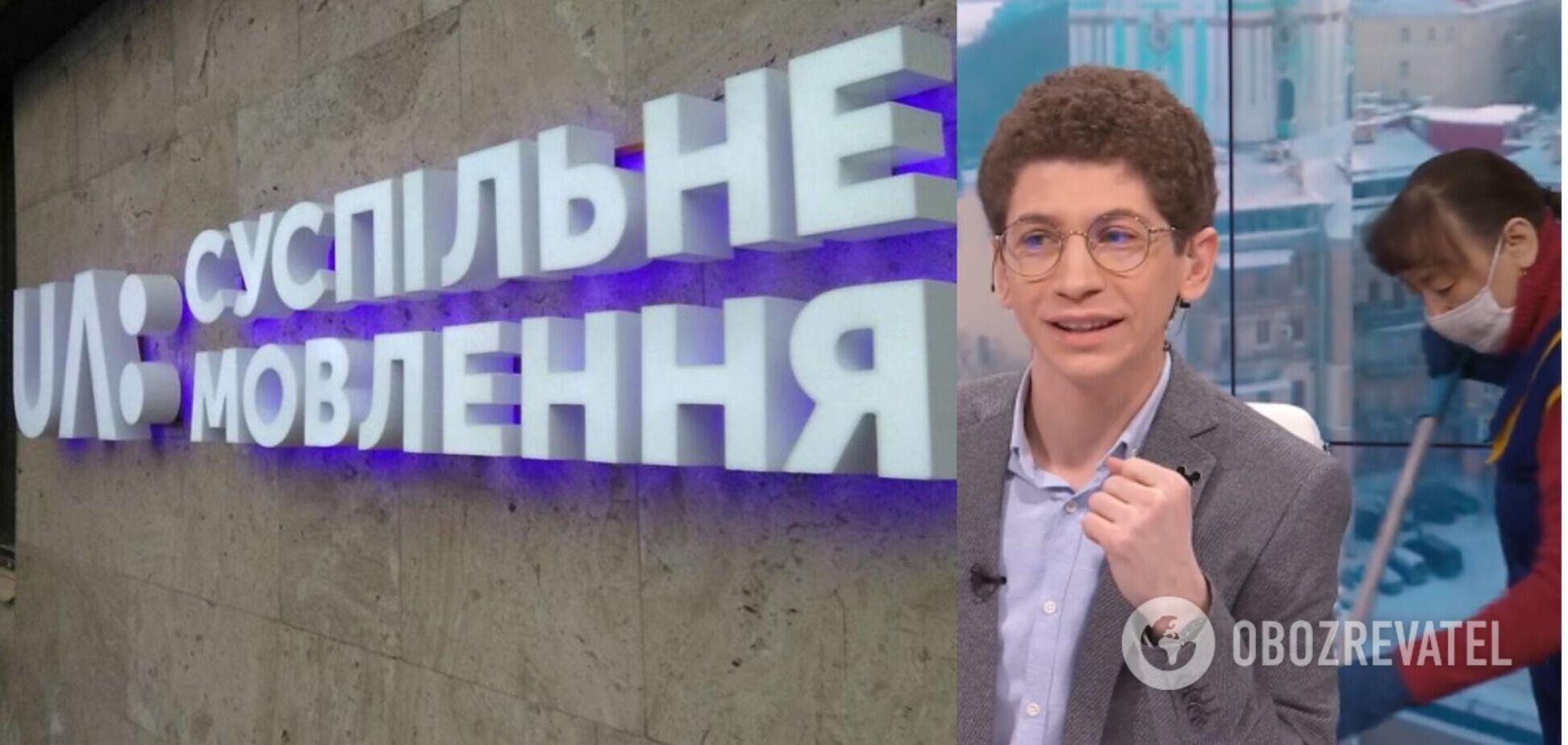 Прибиральниця помила підлогу в прямому ефірі українського телеканалу