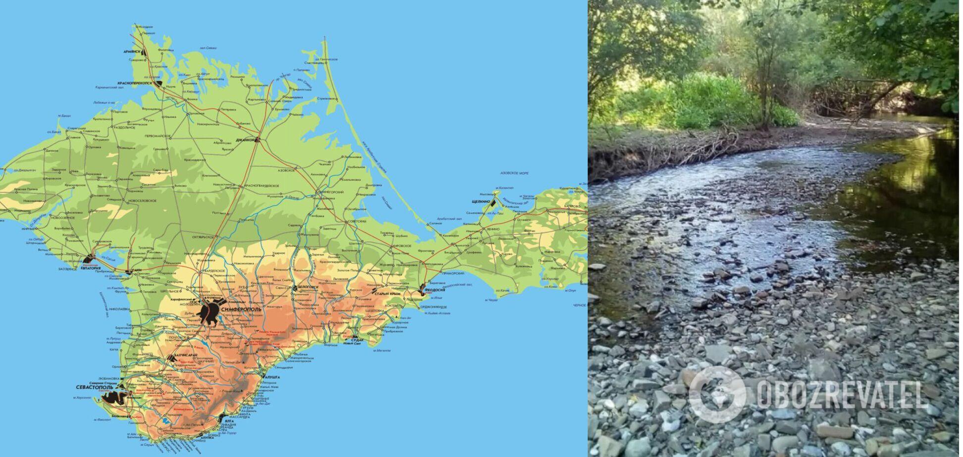 Як річки залишають Крим