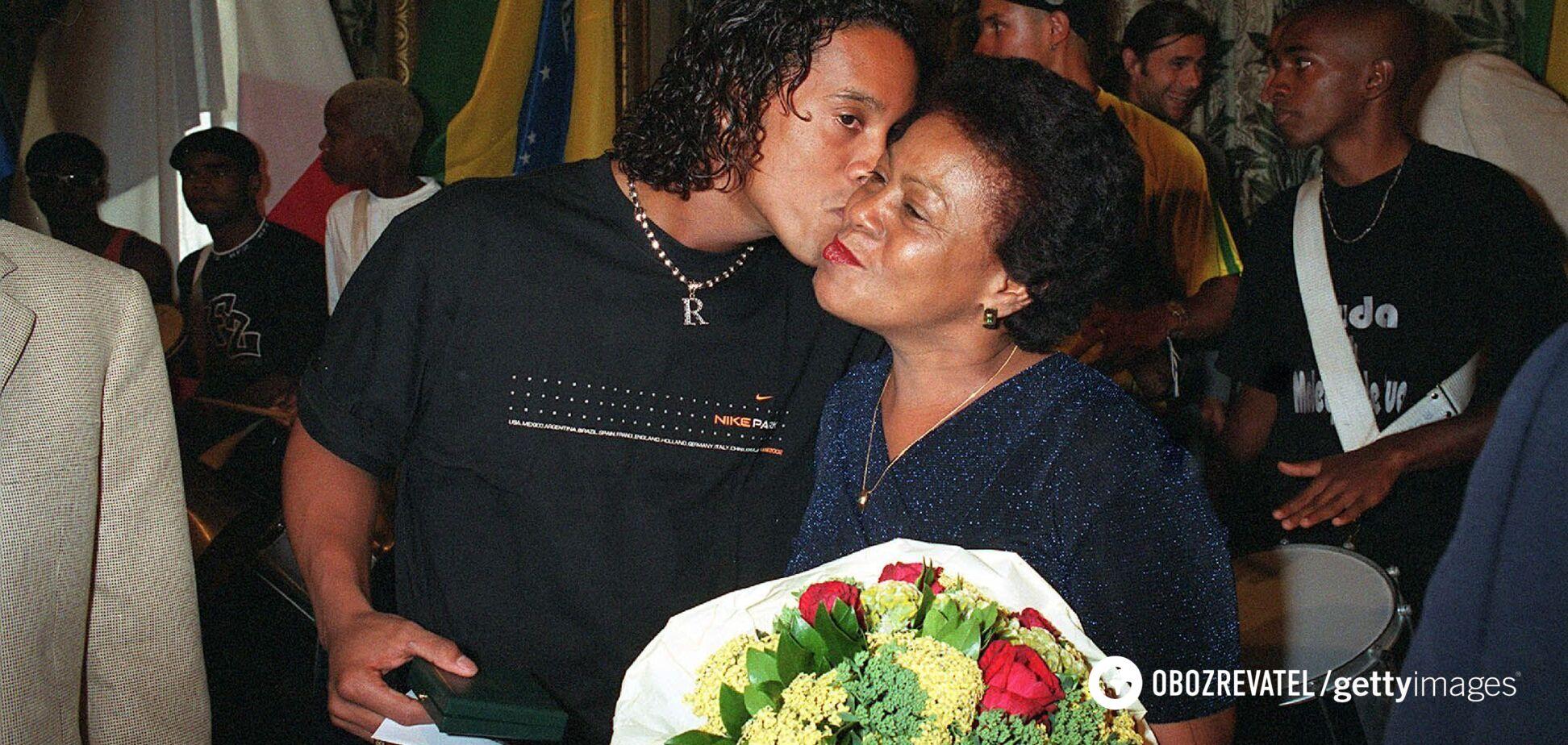 Роналдиньо с мамой
