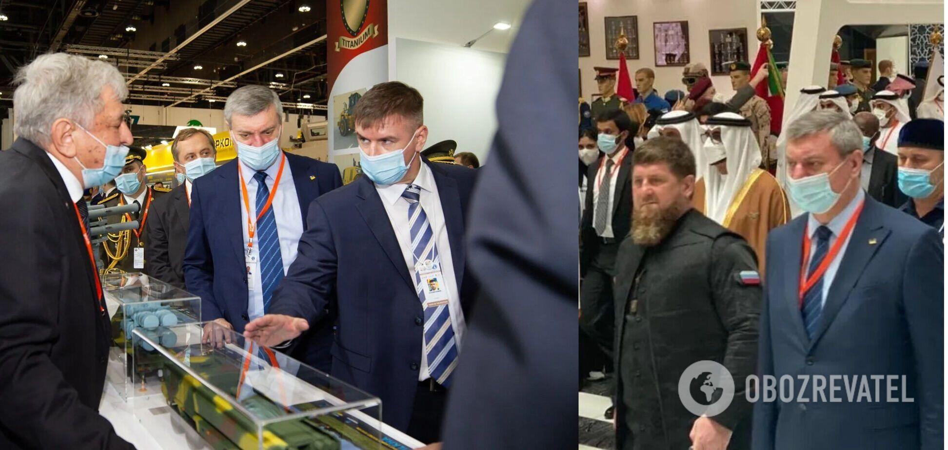 Уруский появился вместе с Кадыровым на выставке в ОАЭ: видео и новые фото
