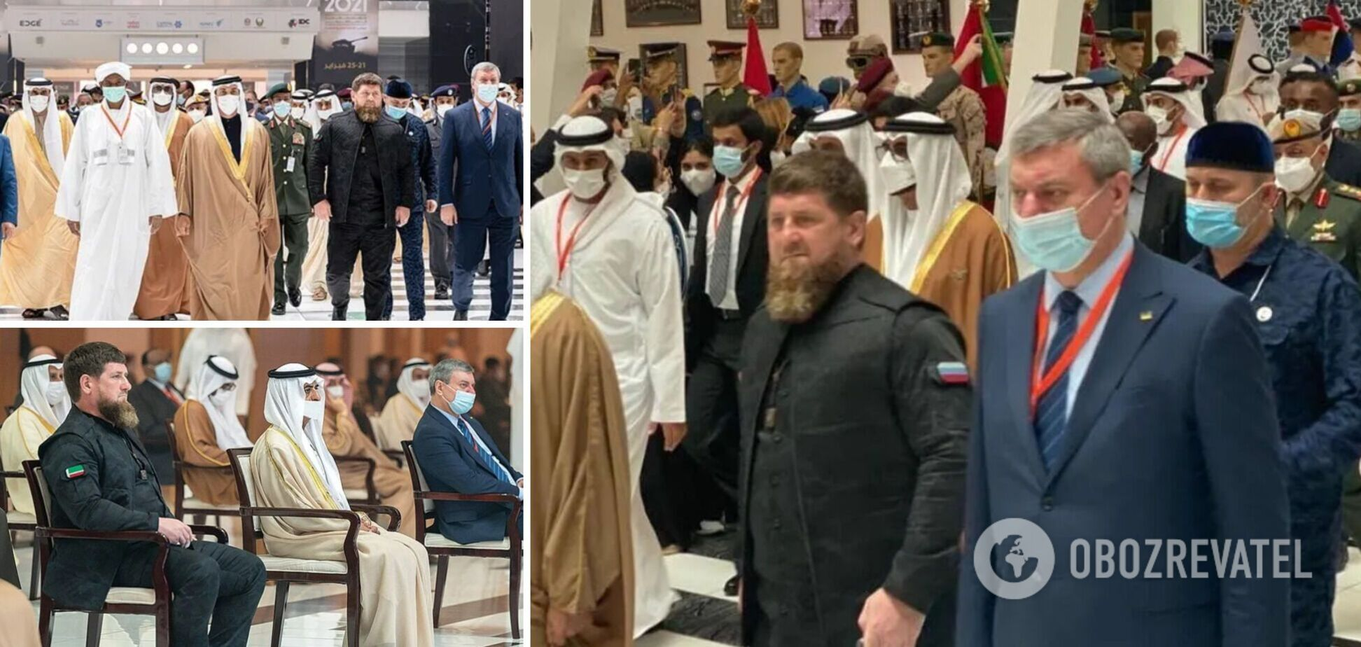 Вице-премьер Олег Уруский и лидер Чечни Рамзан Кадыров