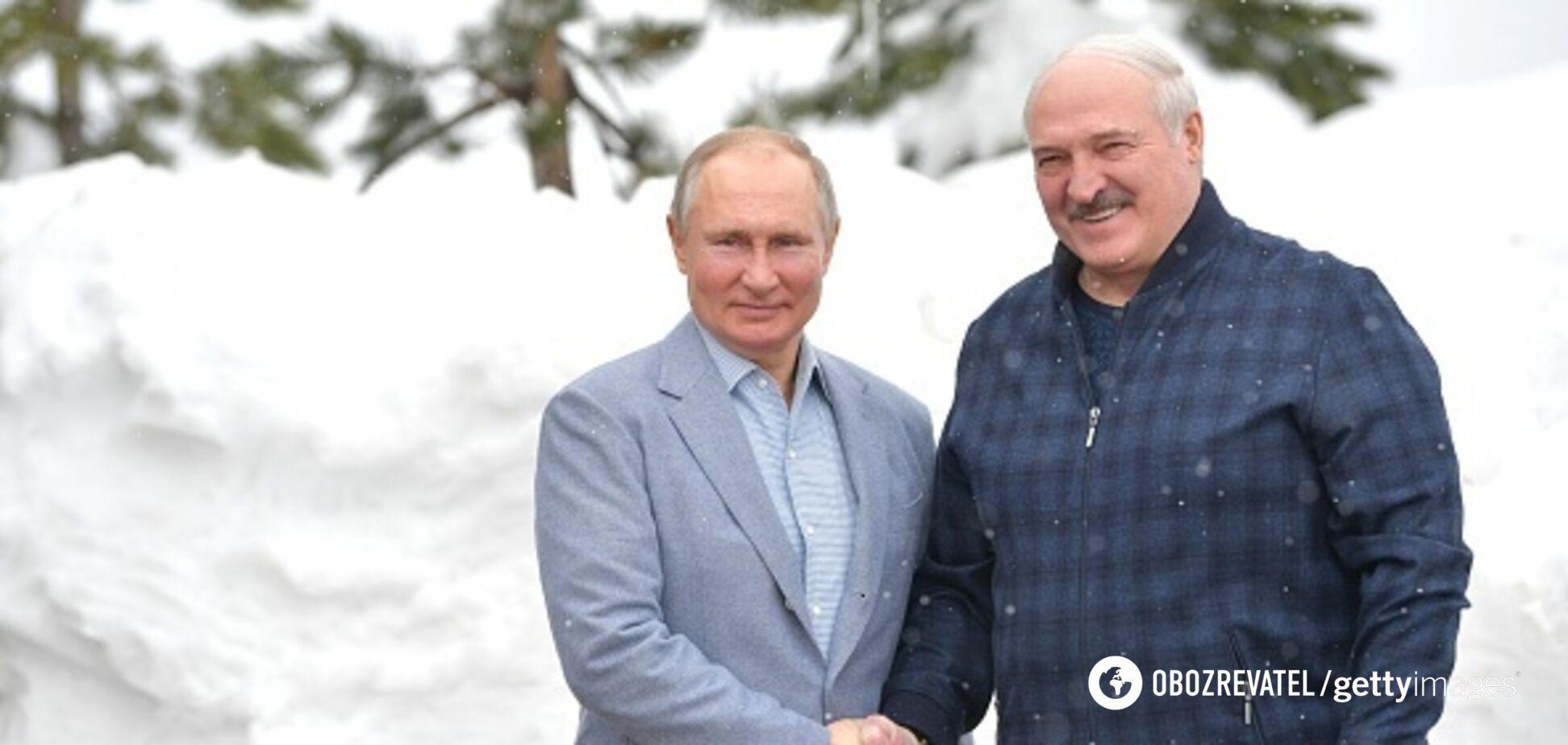 Главы России и Беларуси Владимир Путин и Александр Лукашенко