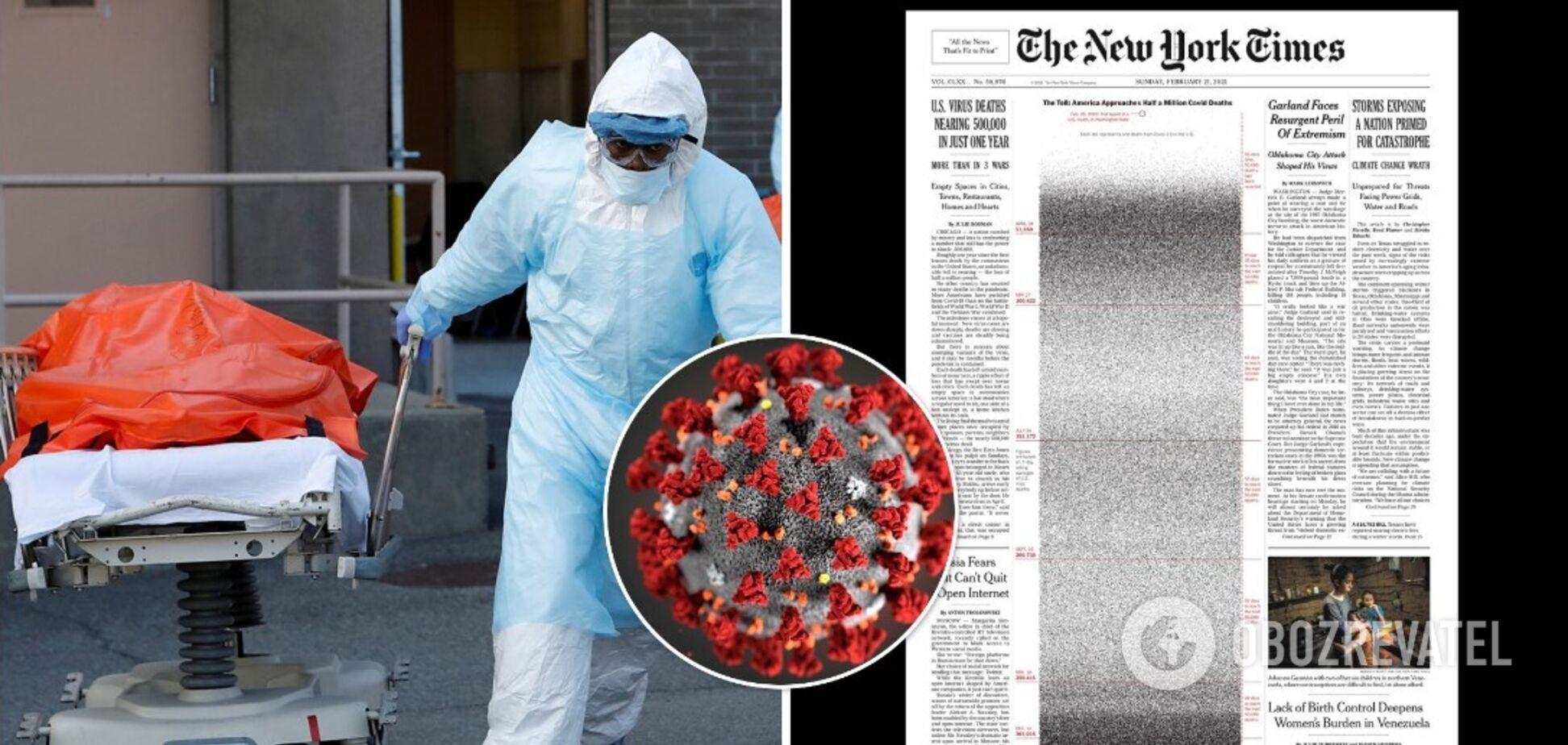 The New York Times показал смерти 500 тыс американцев от коронавируса