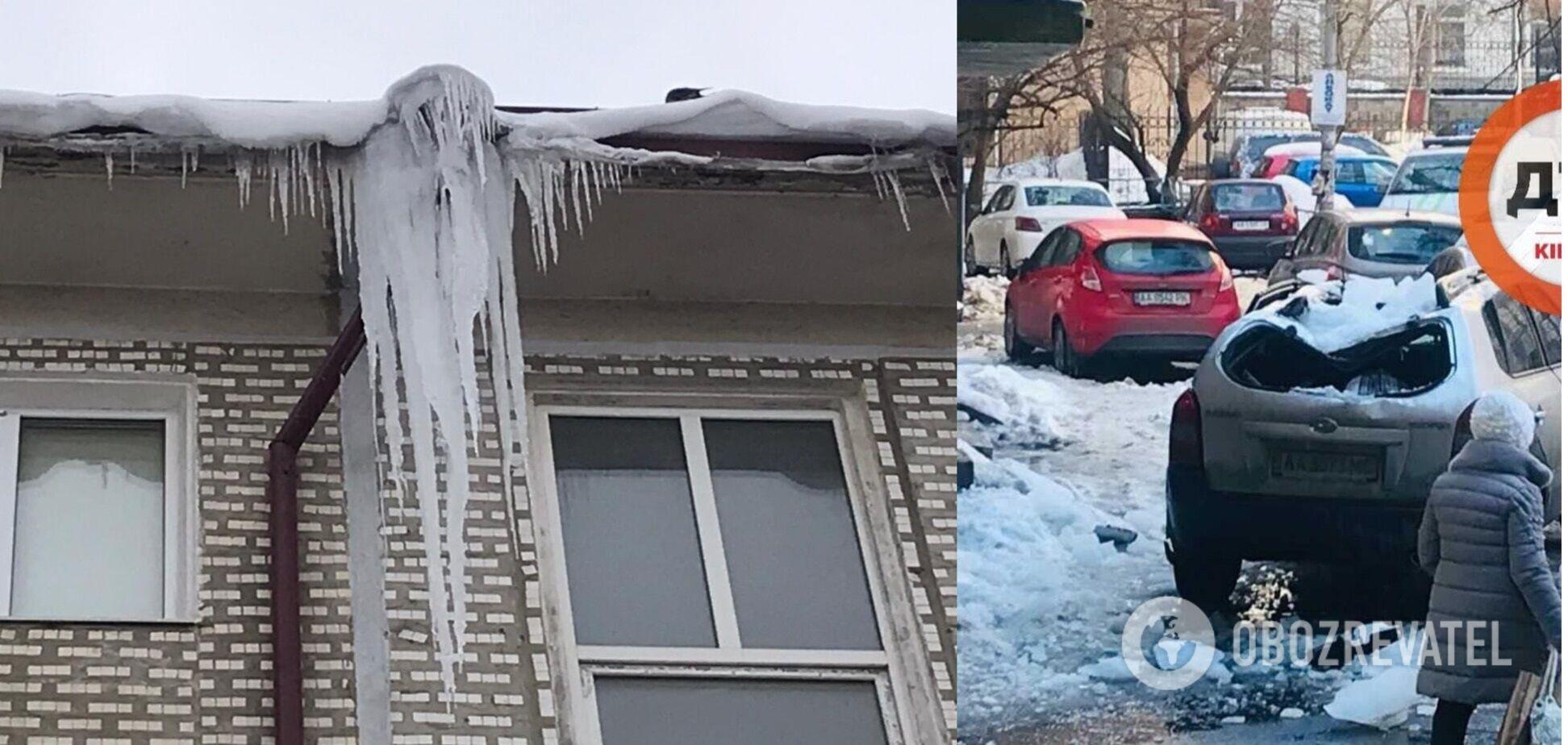 Страдают машины, припаркованные рядом с зданиями