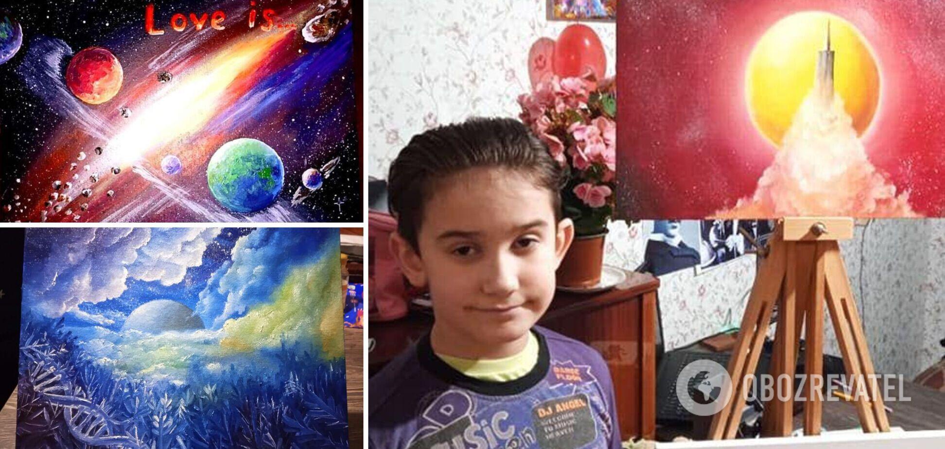 Хлопчика-аутиста з Бердянська називають українським Пікассо: мама розповіла про його унікальний талант