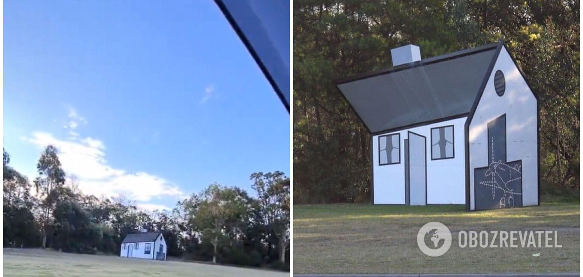 Оптическая иллюзия с вращающимся домом напугала пользователей сети. Видео