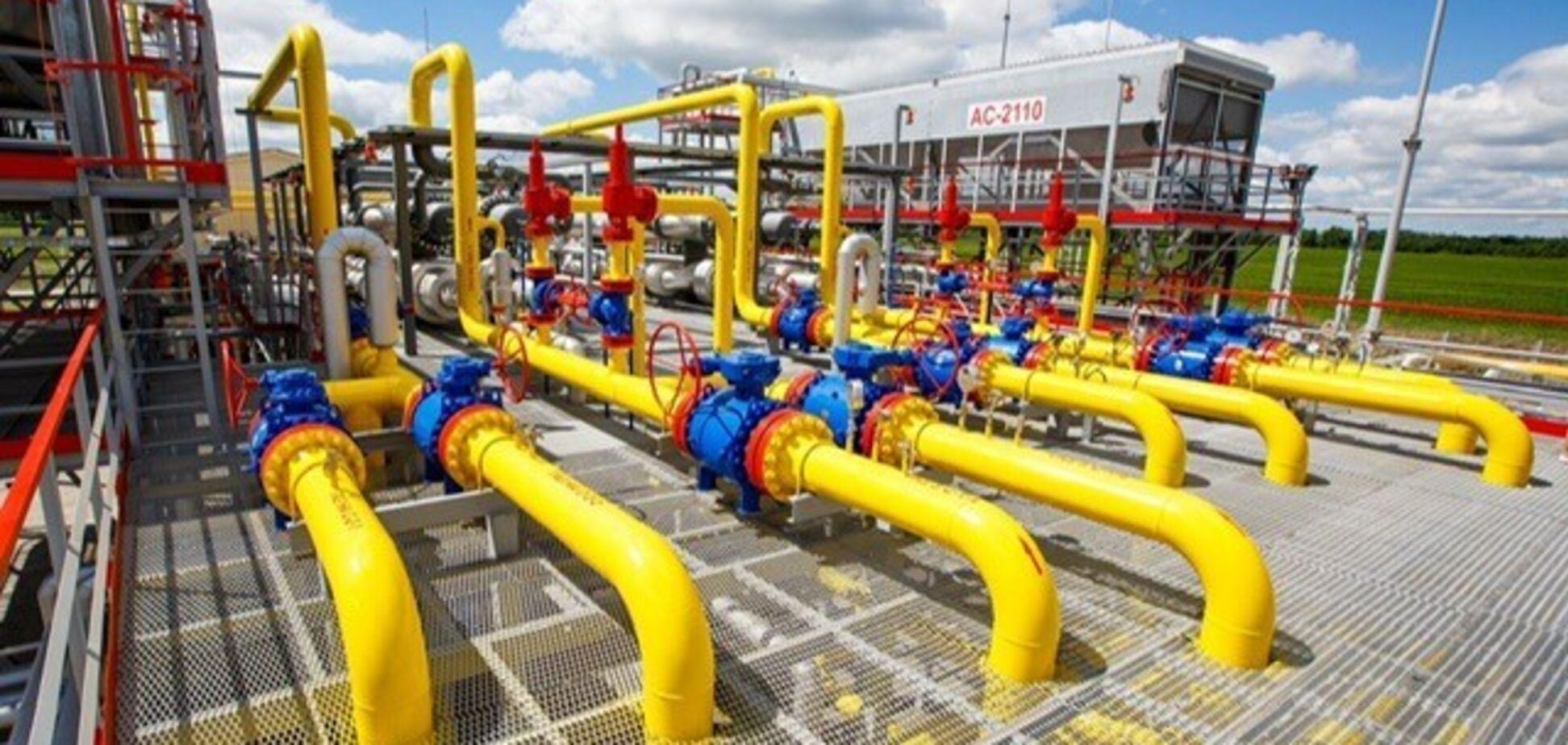 Запасы газа в украинских хранилищах с начала отопительного сезона сократились в 1,8 раза