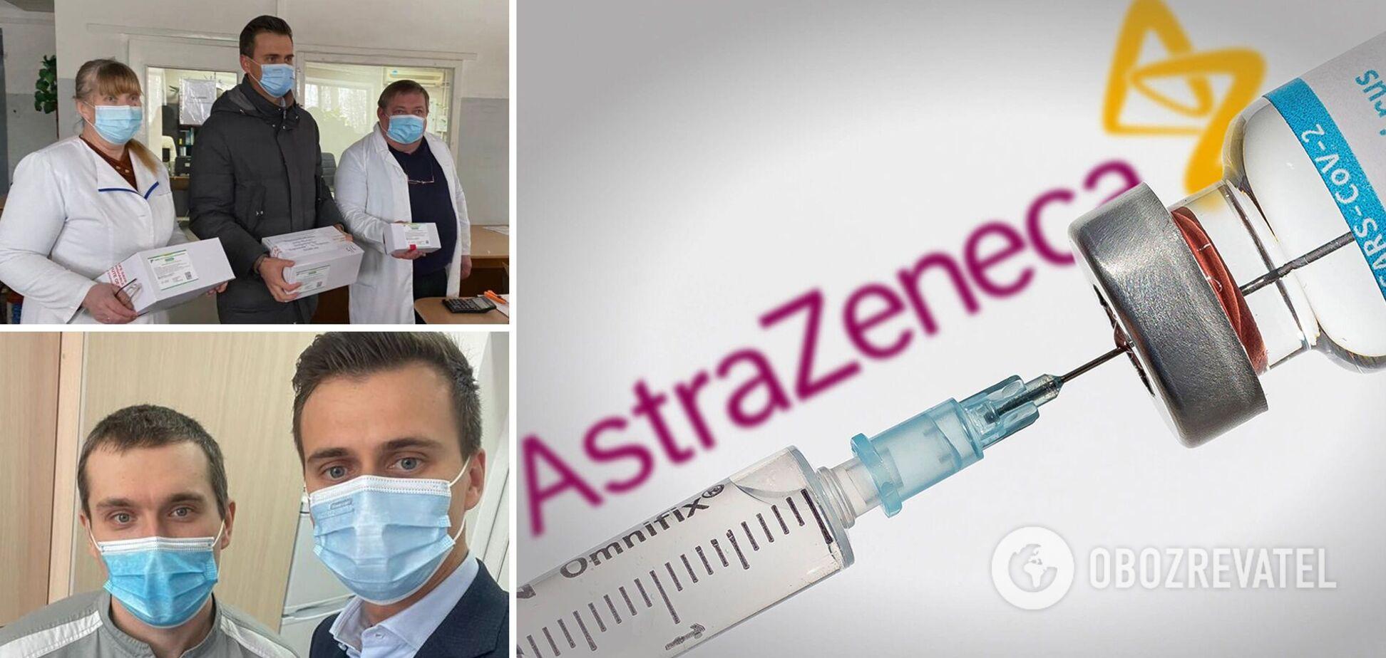 В Черкасской области первый врач получил прививку от коронавируса