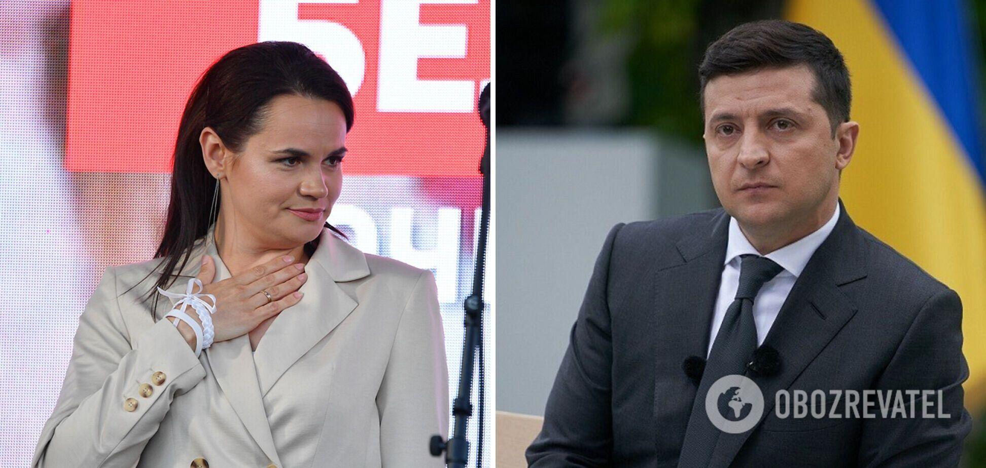Тихановская дала оценку президенту Зеленскому