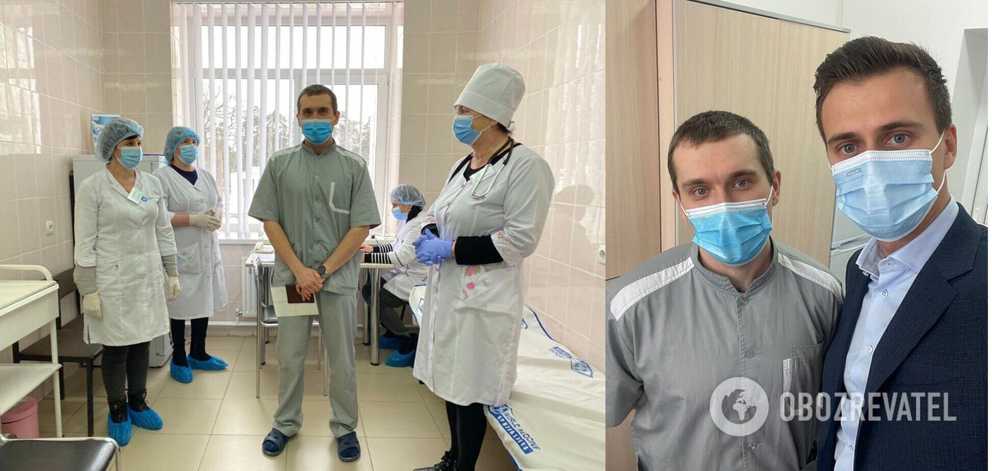 Первый вакцинированный против коронавируса украинец рассказал о самочувствии