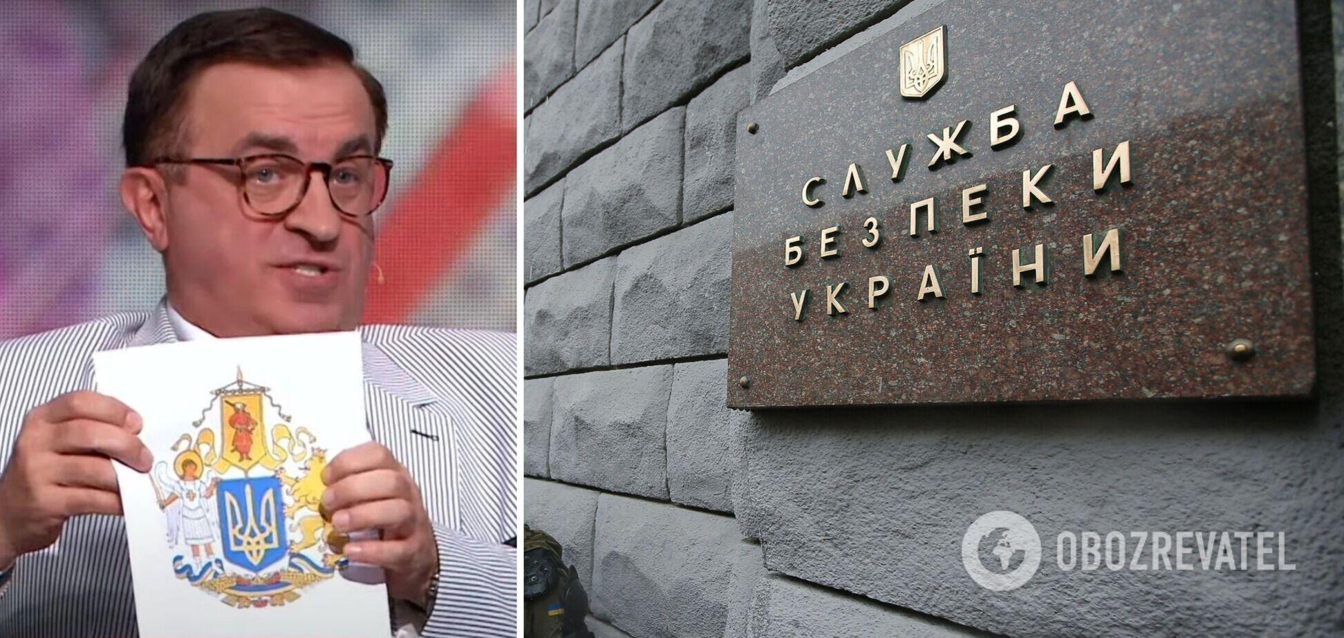 СБУ задержала 'политического эксперта' с каналов Медведчука. Фото и видео