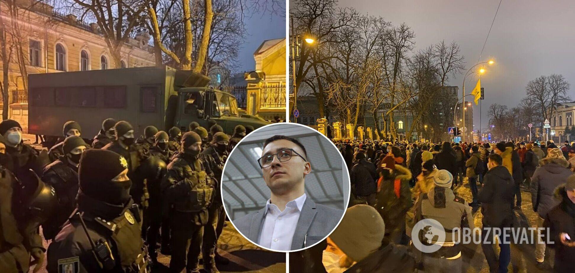 'Слуги народа' высказались о столкновениях в Киеве из-за приговора Стерненко