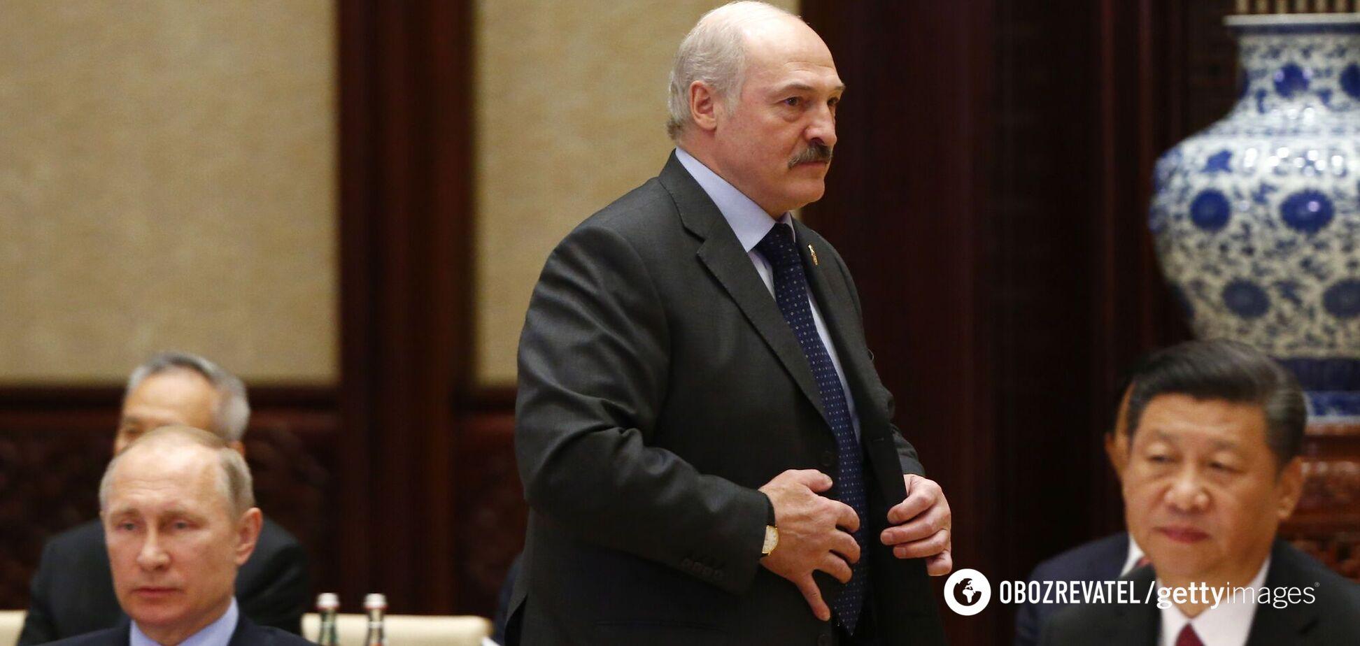 Тодішній президент Білорусі Олександр Лукашенко на саміті в рамках форуму 'Один пояс, один шлях' 15 травня 2017 року Пекіні, Китай.