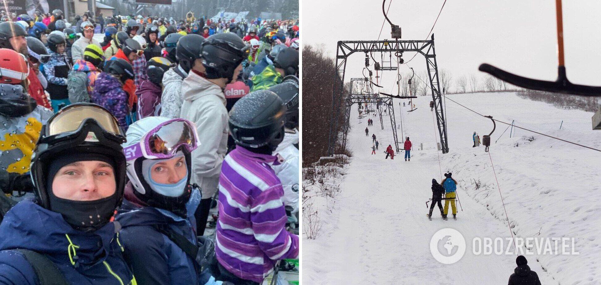 Туристи з новою силою 'ринулись' на Буковель: ціни кусаються, натовпи не дають кататися