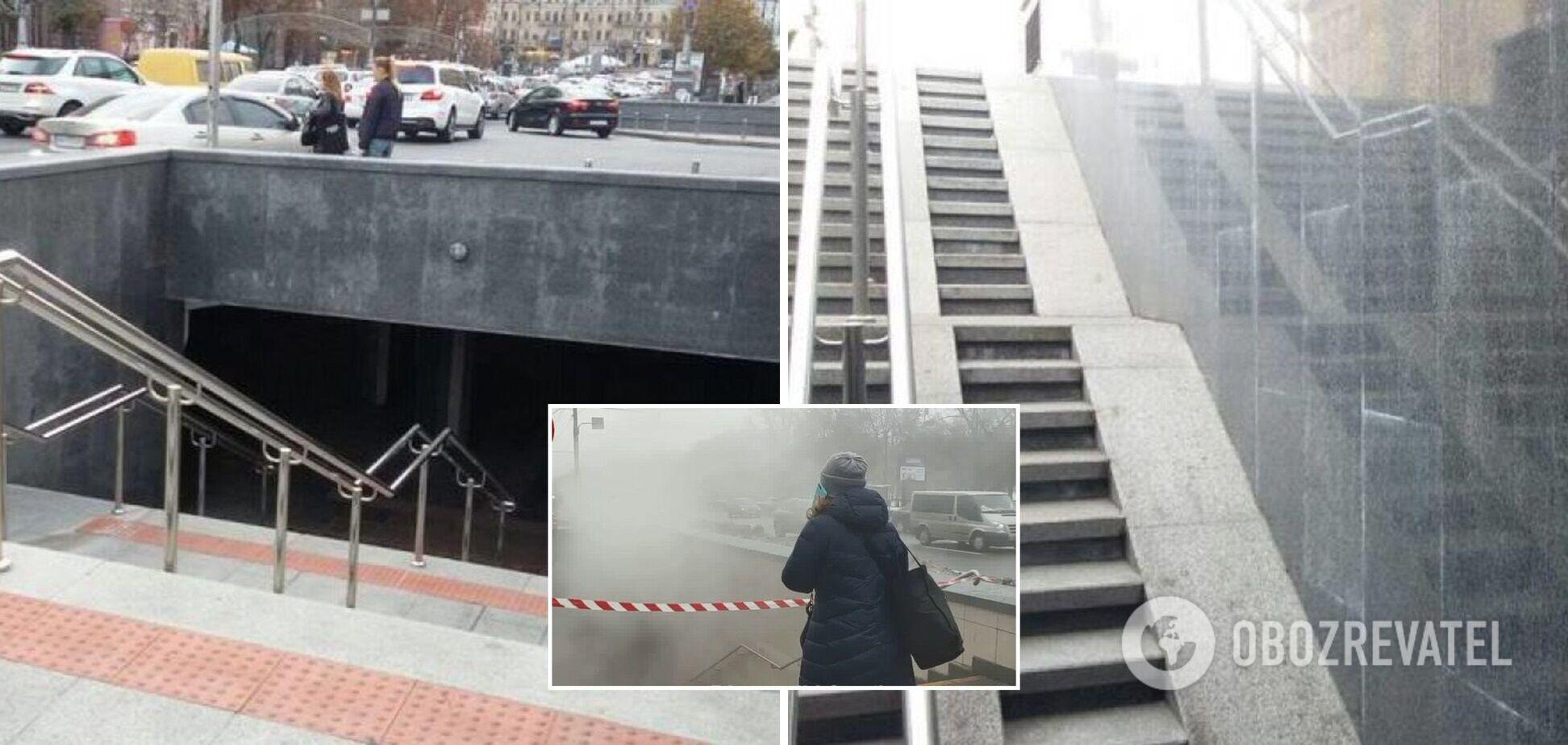 У Києві окропом залило підземний перехід. Відео