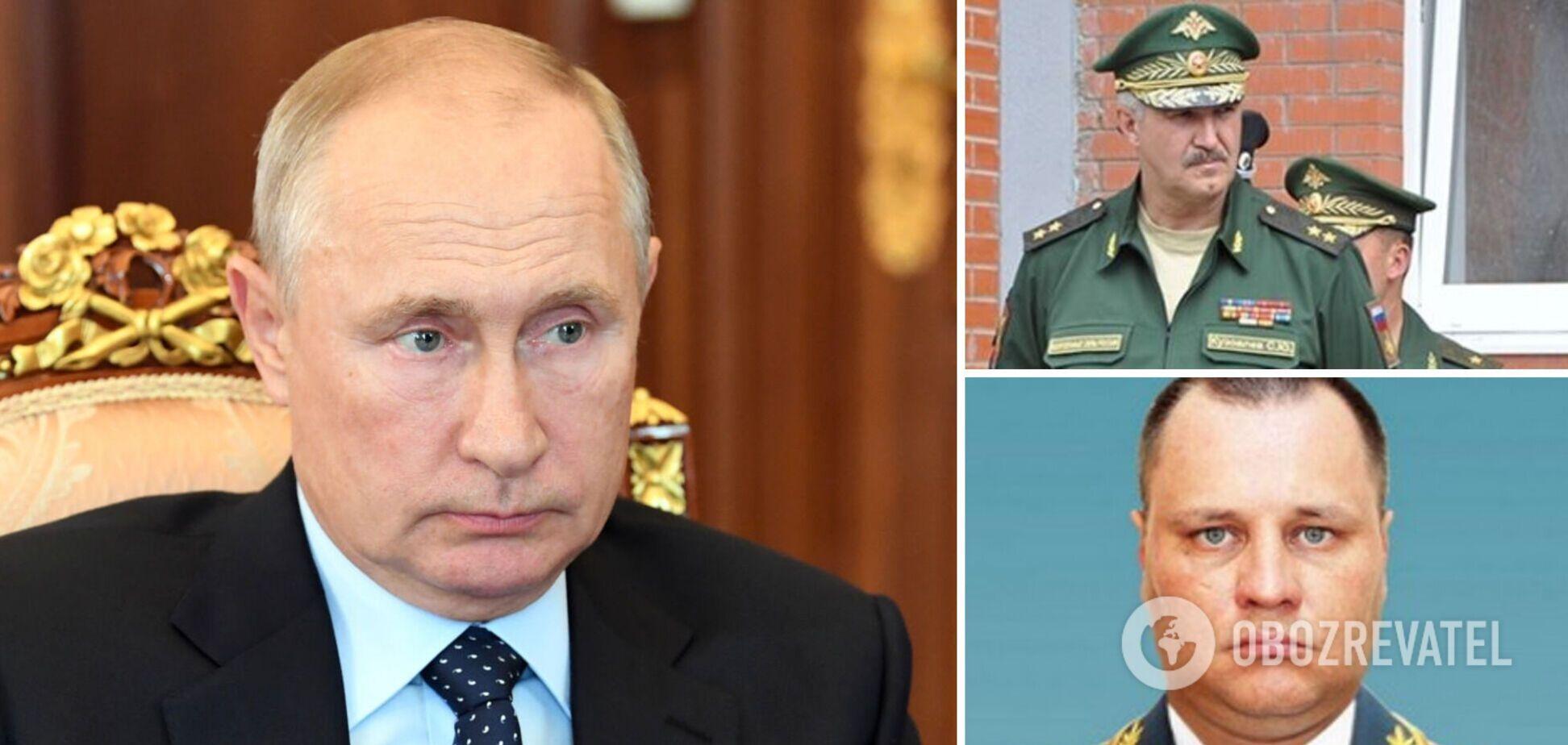 Президент России Владимир Путин и террористы 'Л/ДНР'