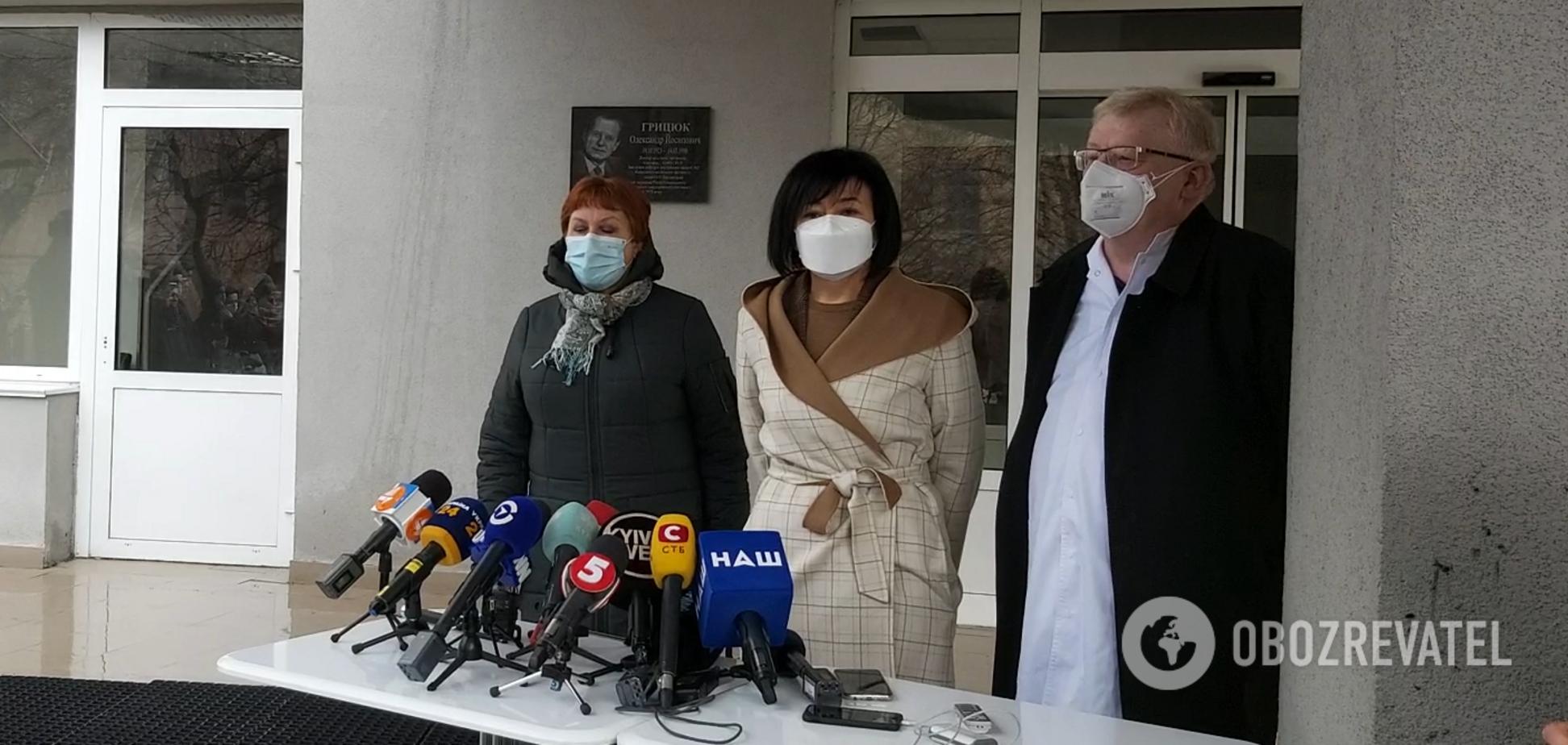 Брифинг относительно начала вакцинации в Киеве