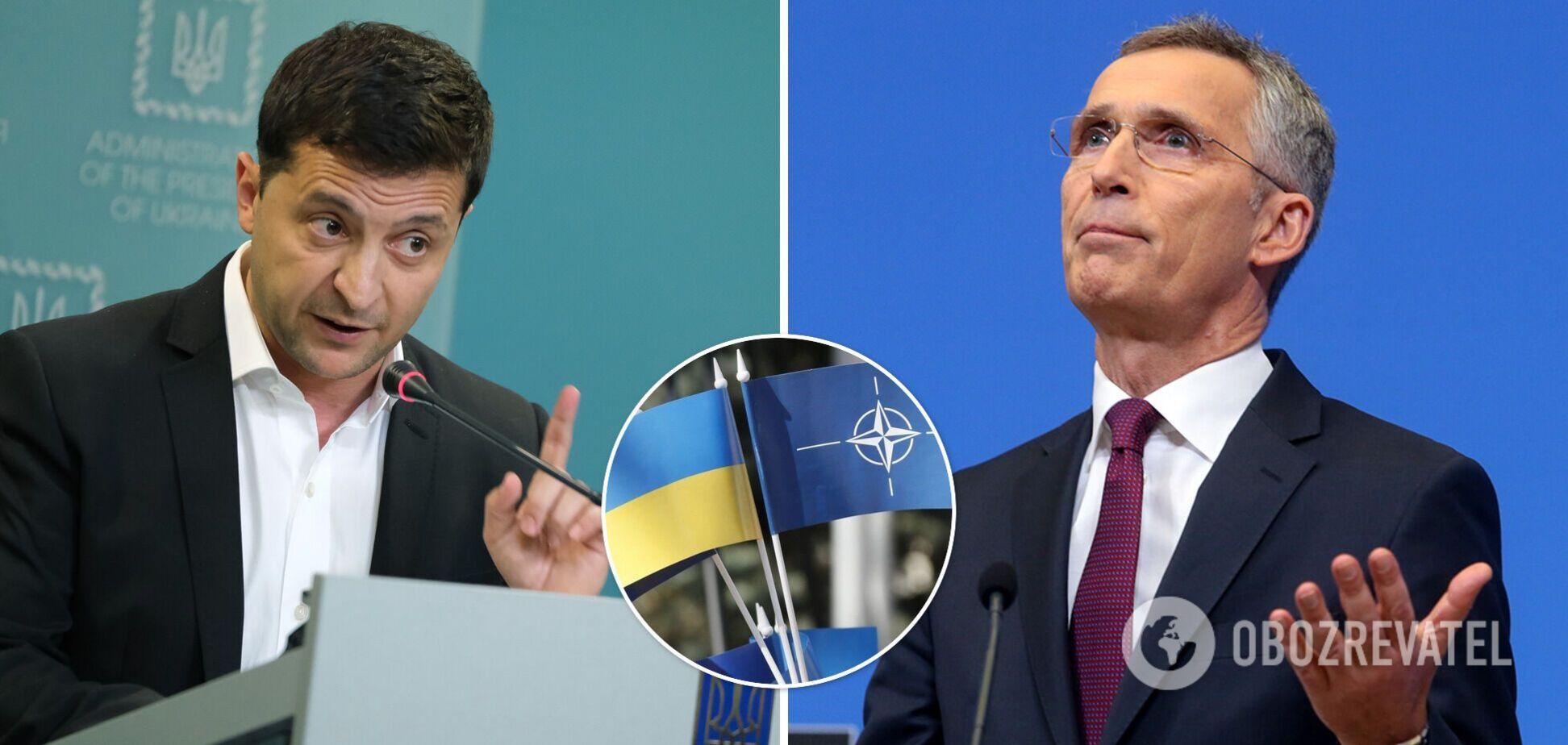 Зеленский поговорил с генсеком НАТО и попросил ПДЧ для Украины