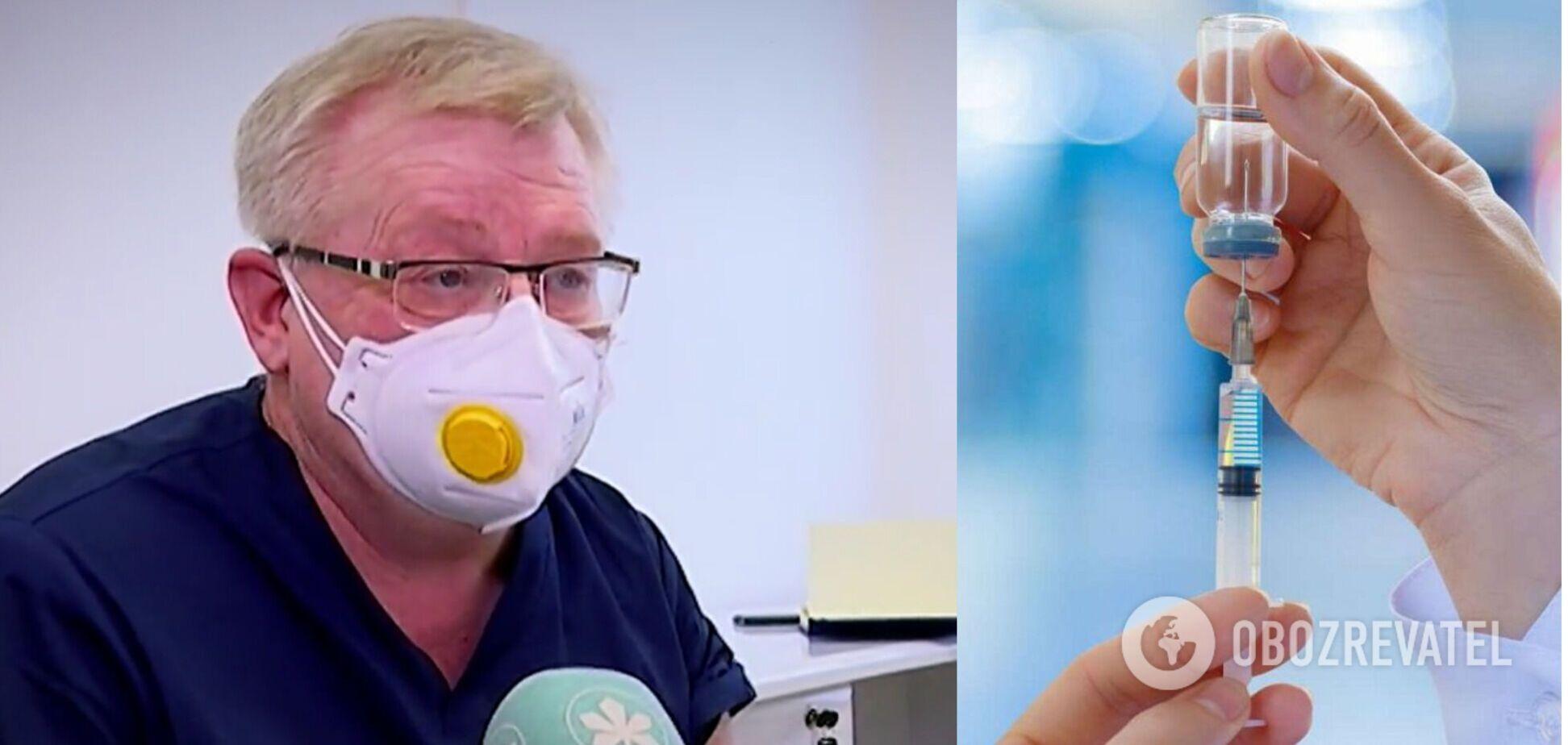 Врач из Киева, первым получивший прививку: остановить COVID-19 можно только массовой вакцинацией
