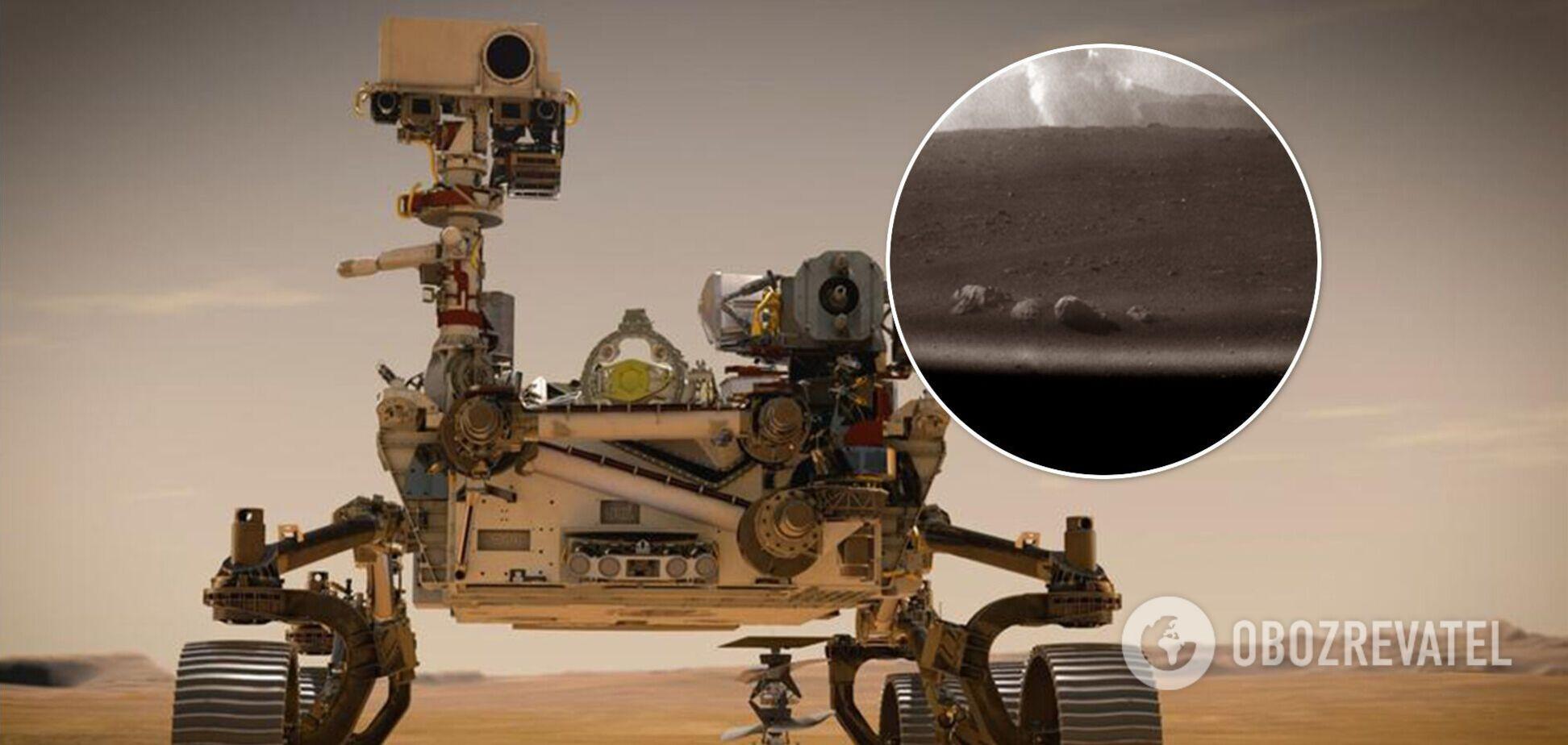 Появилось фото со 'столбом дыма' на Марсе после посадки Perseverance