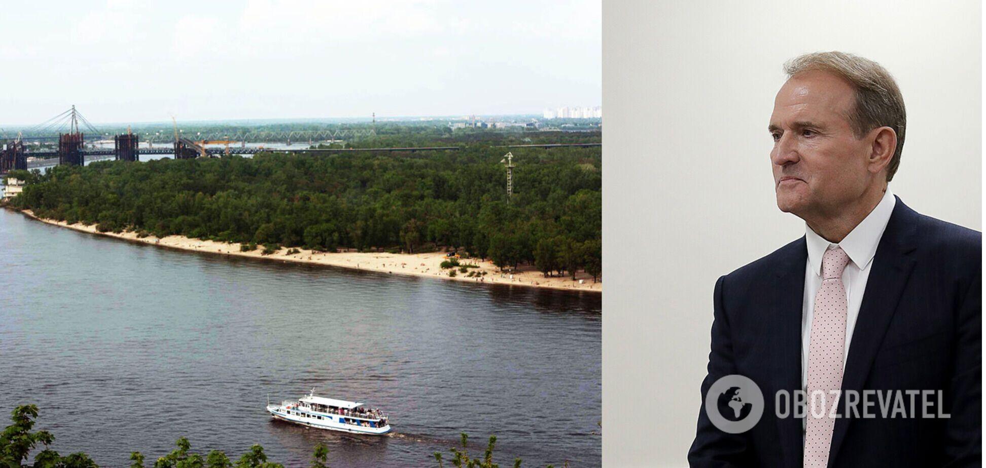 Люди Медведчука через суд вернули землю на Трухановом острове в Киеве