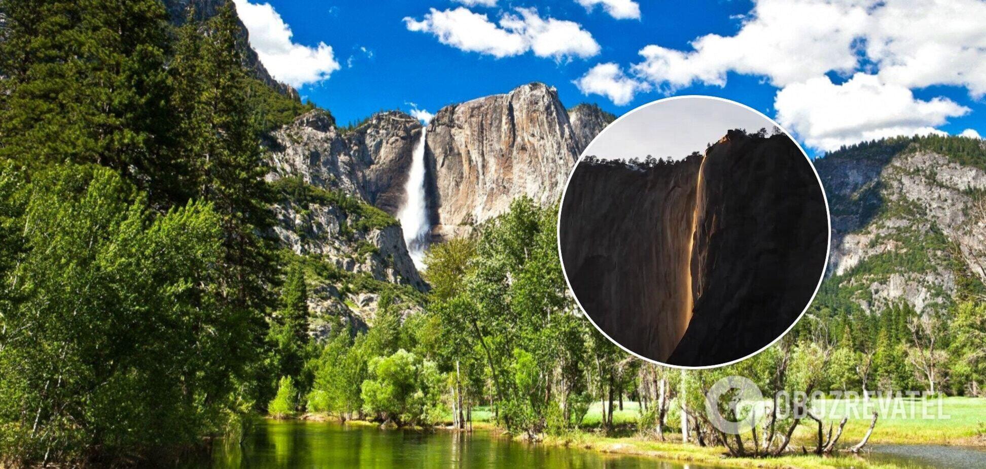 У США сфотографували рідкісний вогняний водоспад. Відео