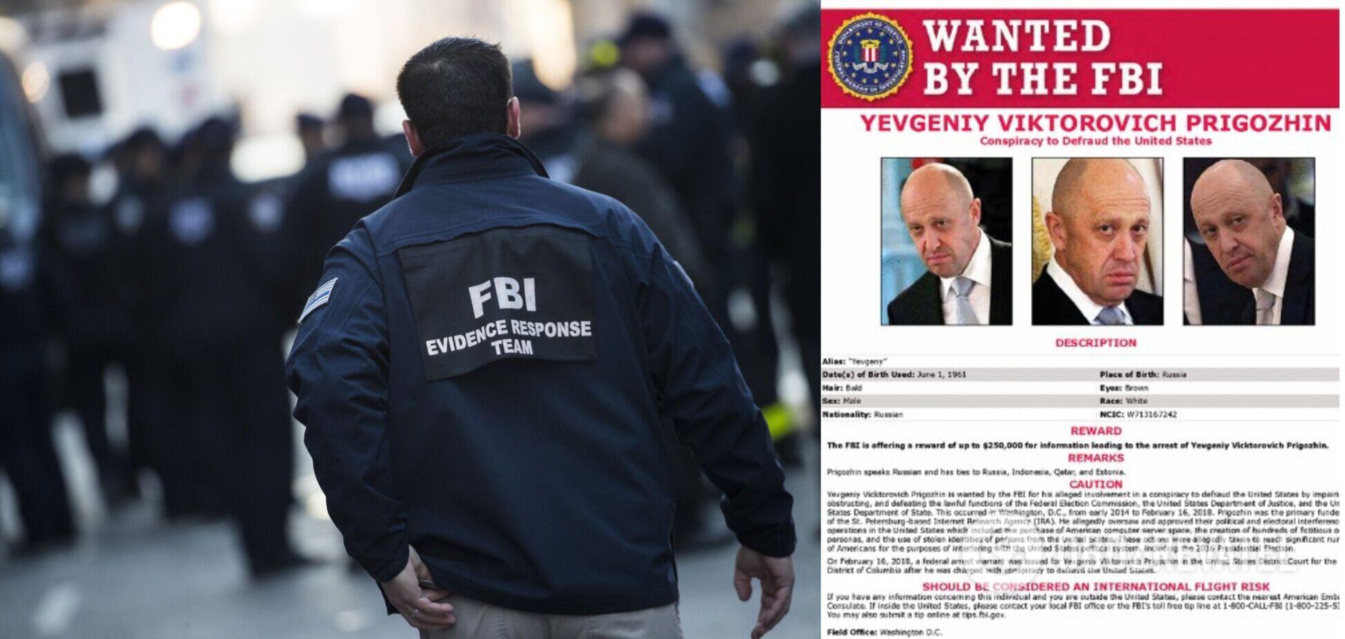 ФБР оголосило в розшук 'кухаря Путіна' і пообіцяло 250 тисяч доларів нагороди