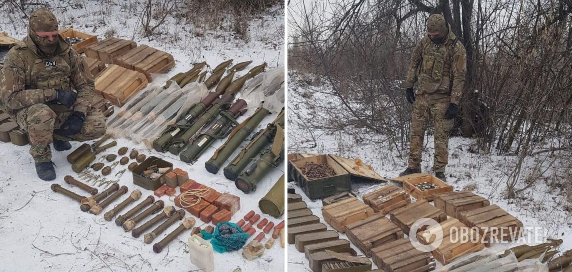 На Луганщині знайшли схрон диверсантів, причетних до підривів будинків. Фото