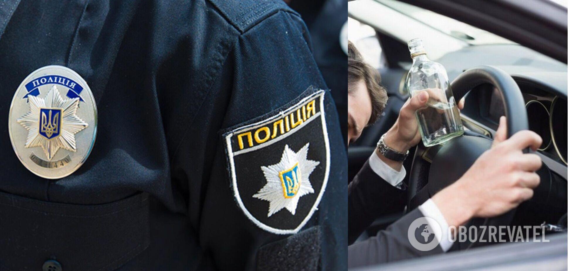У Києві поліція затримала п'яного водія: ледве тримався на ногах. Відео