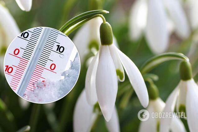Весна в Украине начнется с мокрого снега, а затем потеплеет до +12 – синоптики