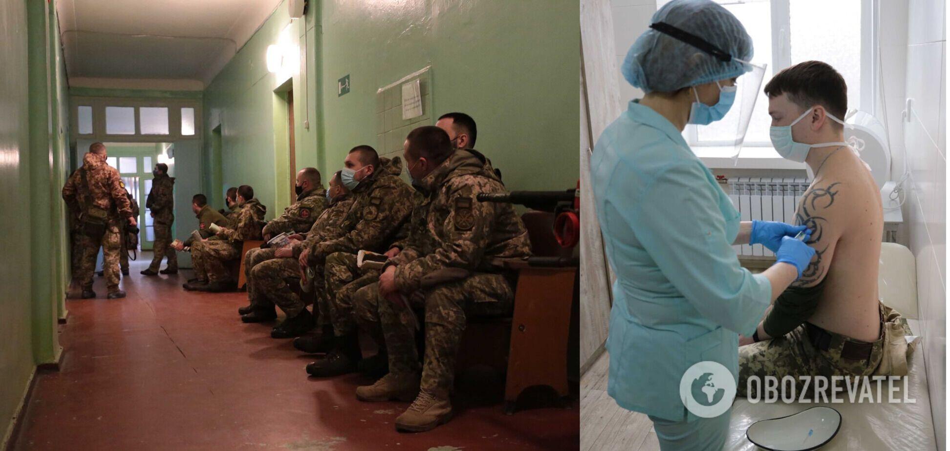 На Луганщине начали вакцинацию военных от коронавируса