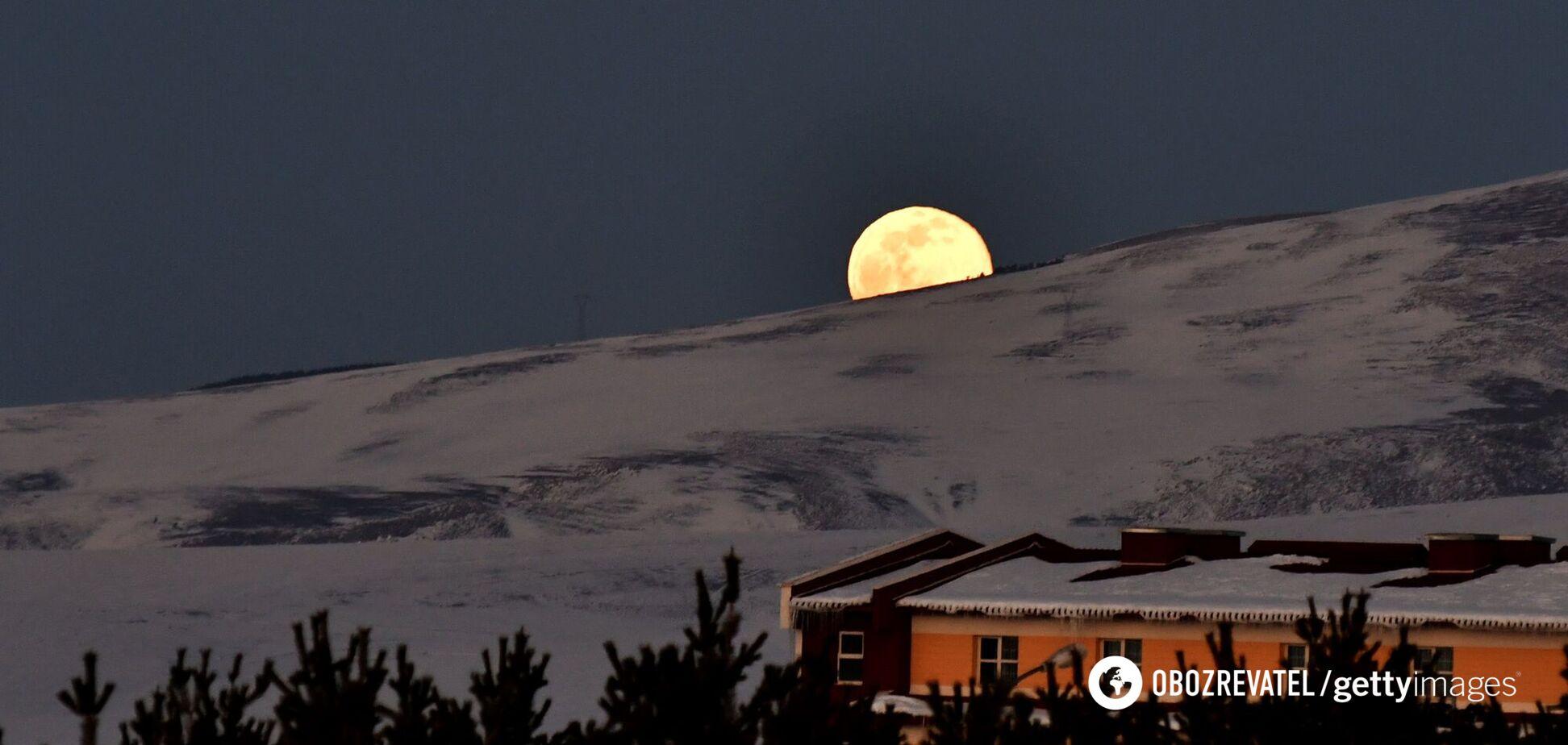Над Землею з'явився 'сніжний місяць': перші фото явища