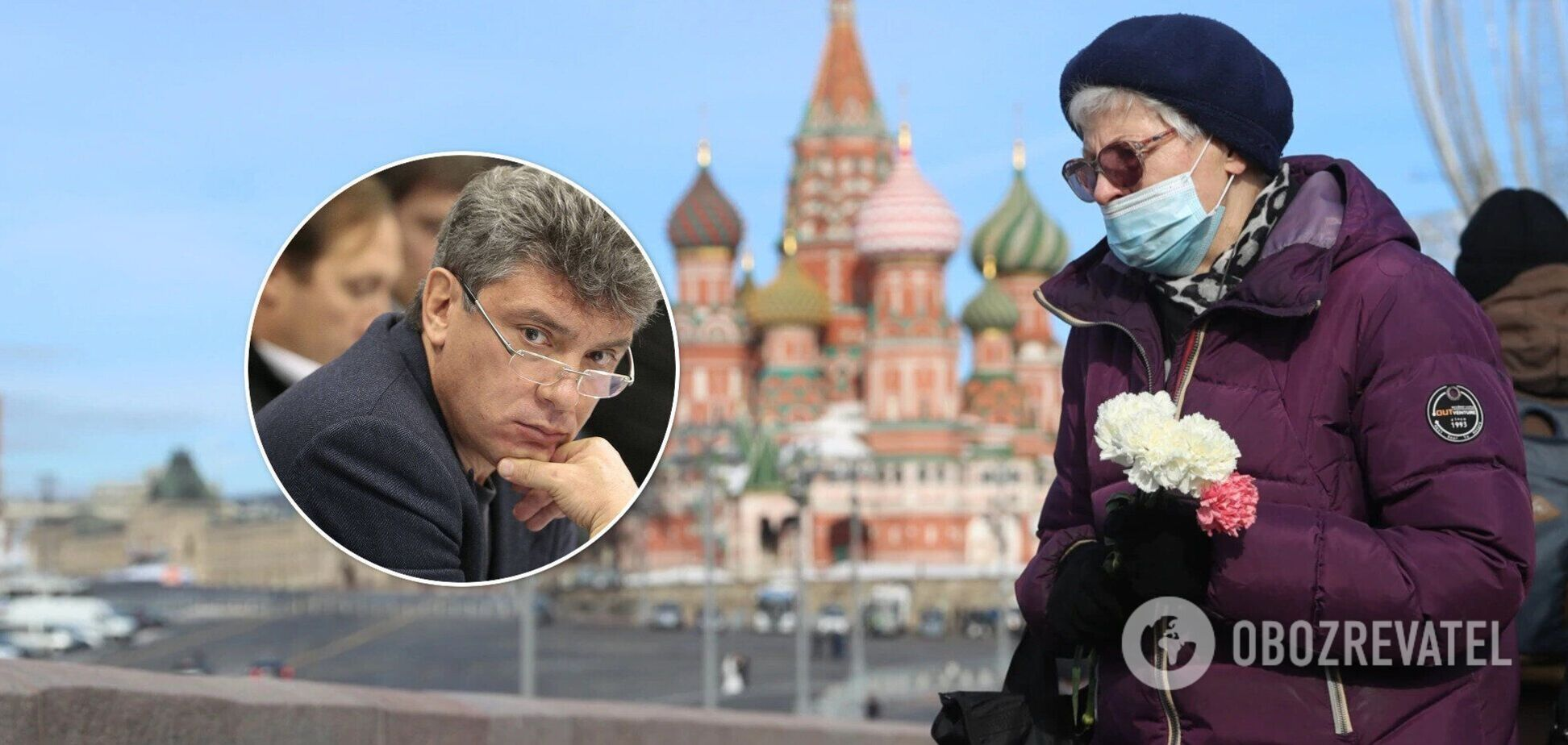 У Росії вшанували пам'ять убитого Нємцова. Відео