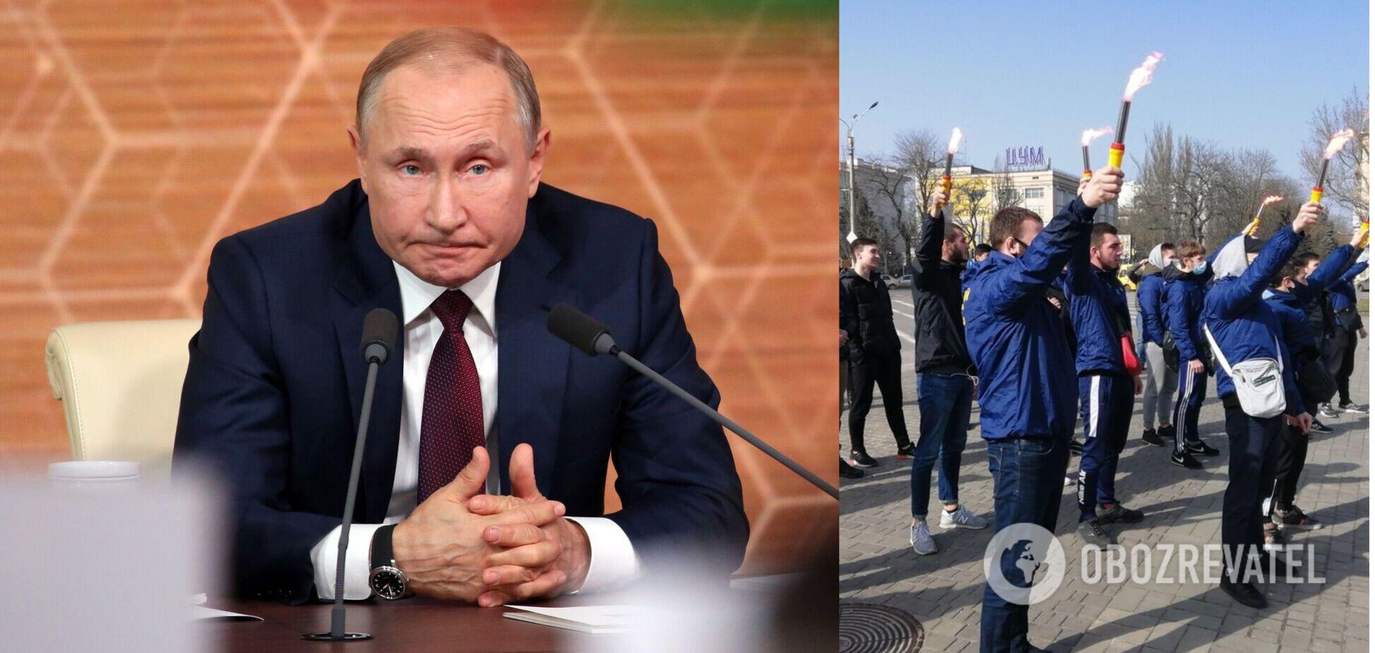 В Херсоні 'повісили' опудало Путіна
