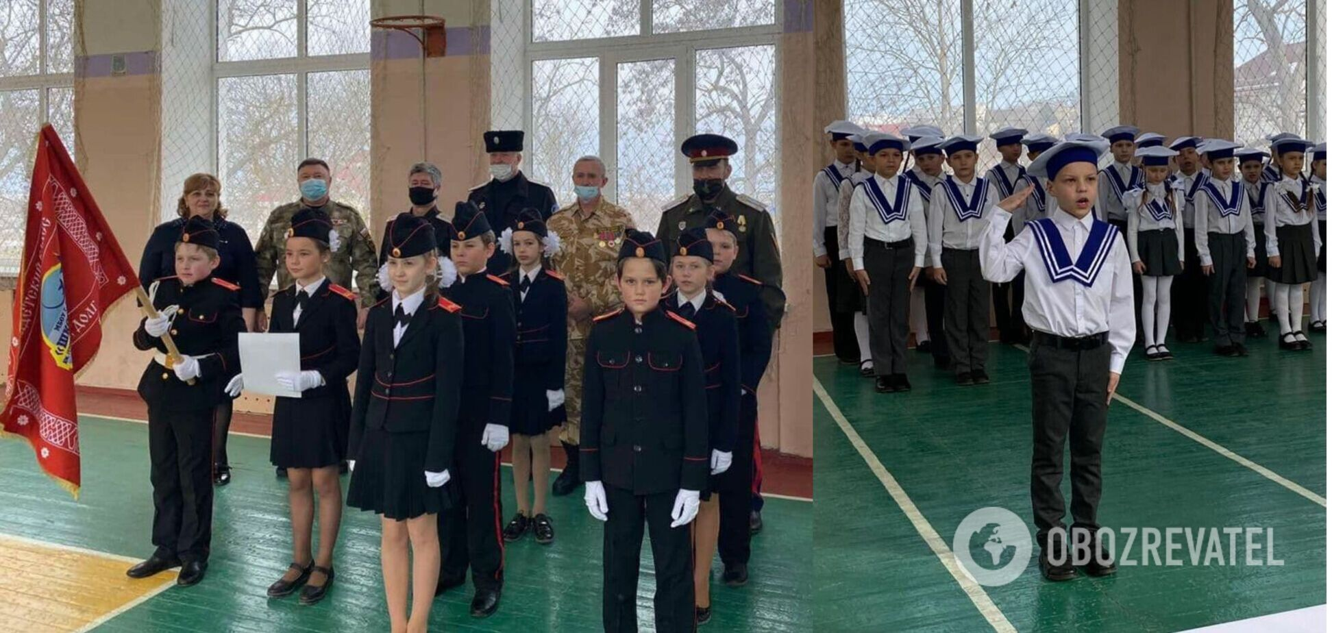 Учні проходять стройові огляди в Криму