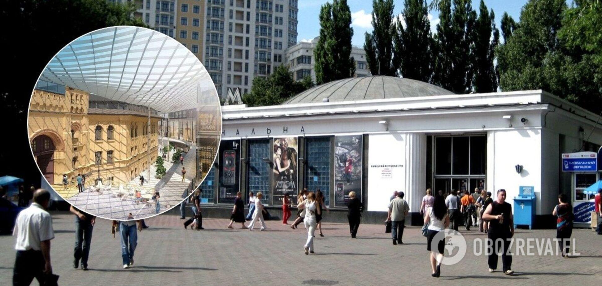 Также ведутся работы над строительством стеклянной галереи