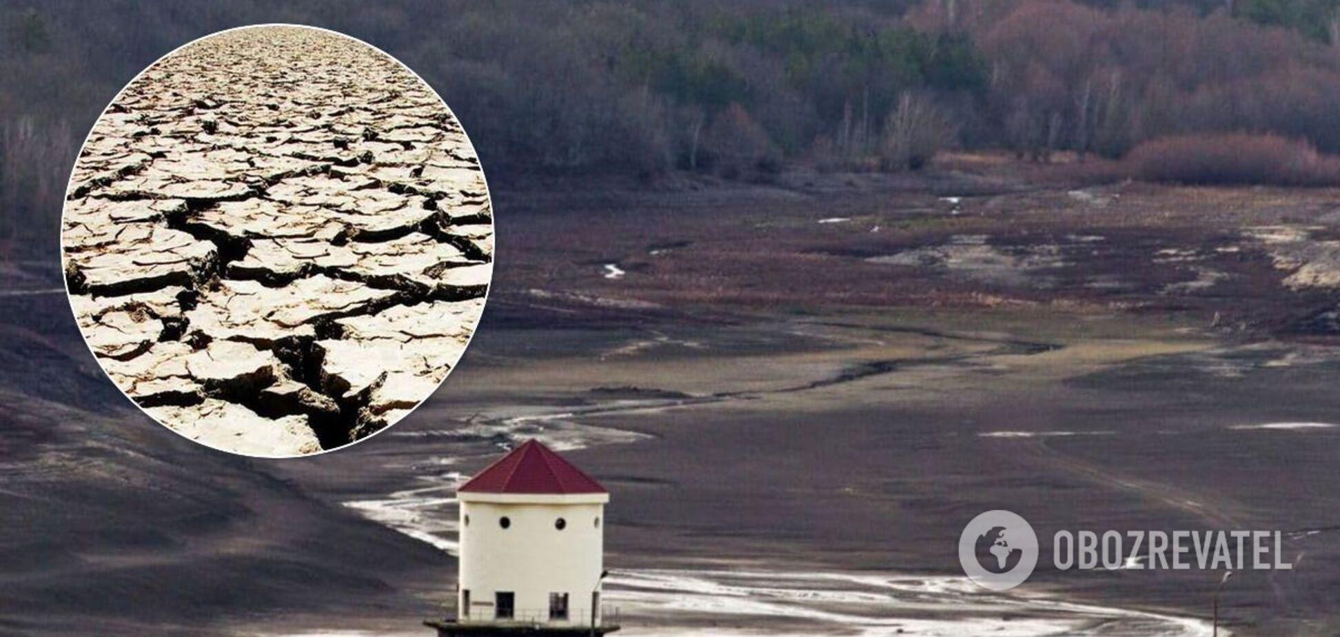 Загорское водохранилище в Крыму