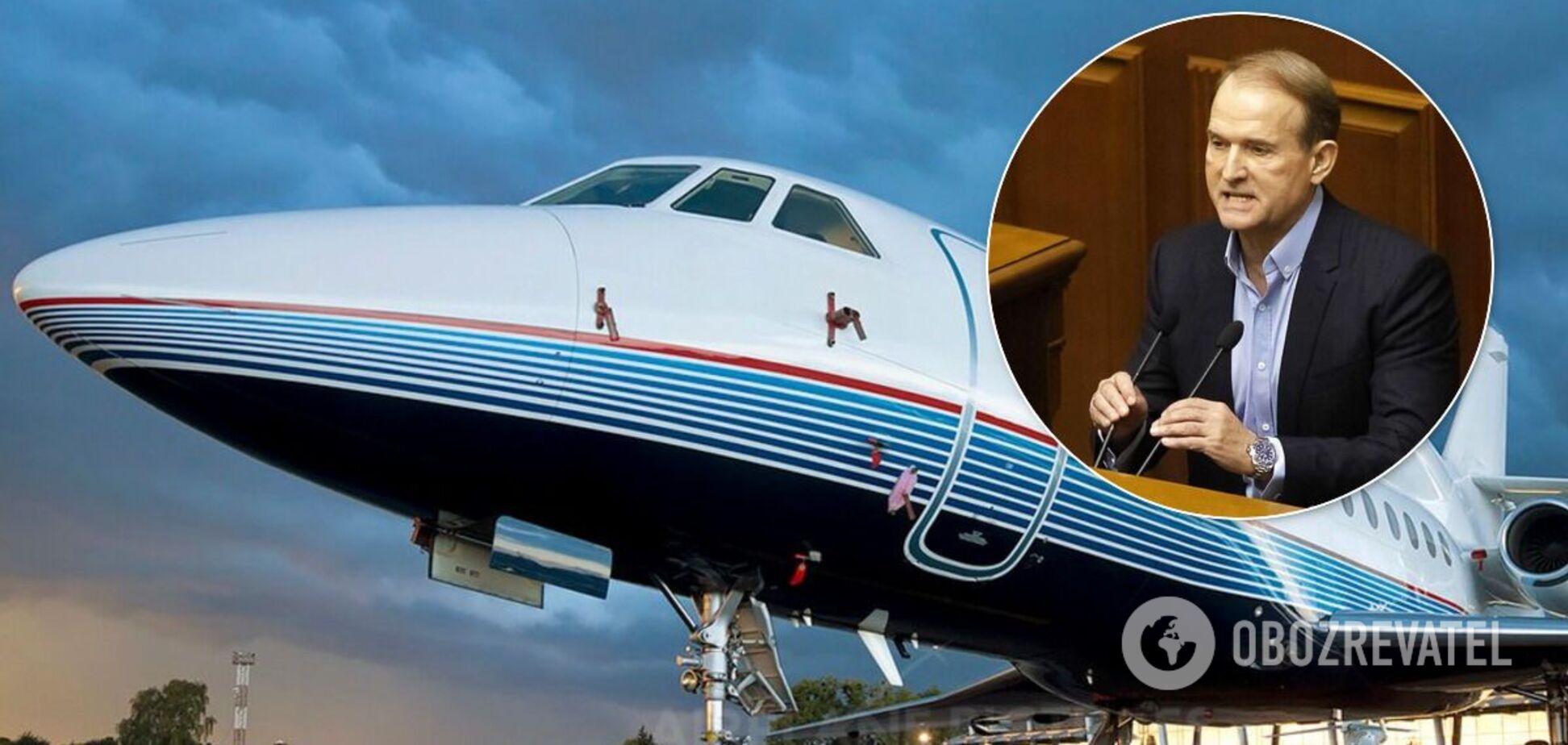На літаки Медведчука й Козака наклали санкції