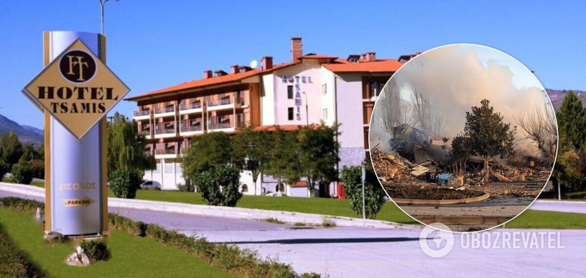 В Греции взрыв уничтожил один из знаковых отелей страны. Видео