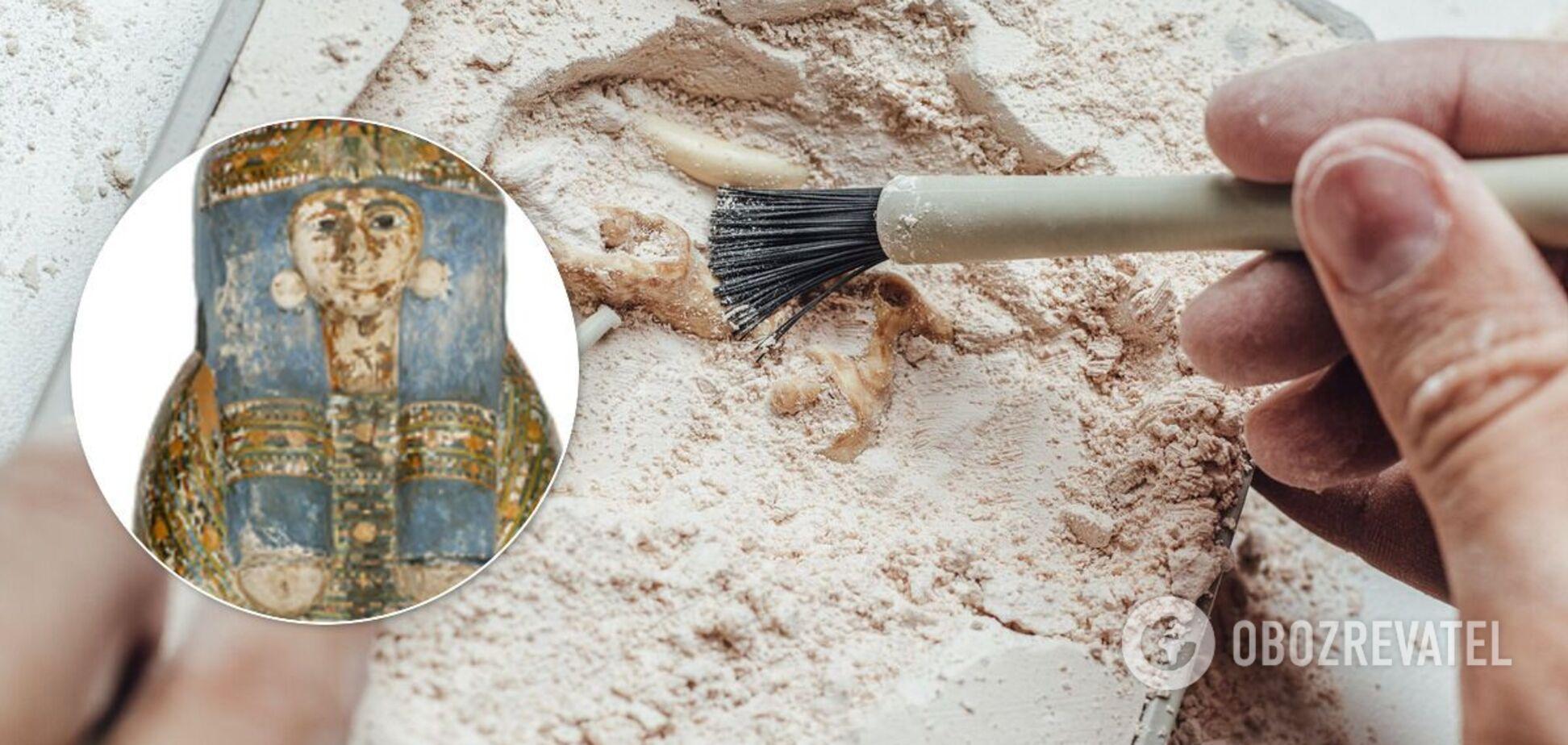 Археологи впервые нашли в Египте мумию из грязи. Фото