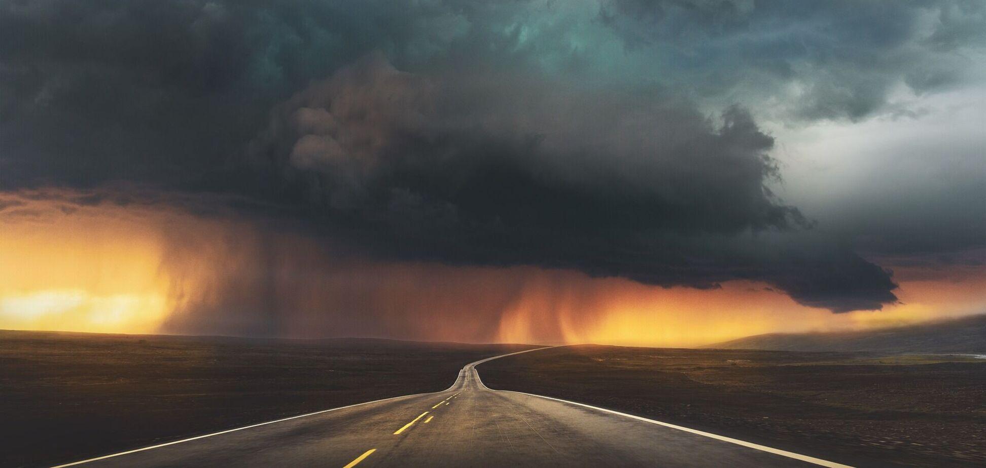В Украину пришел штормовой ветер и дожди