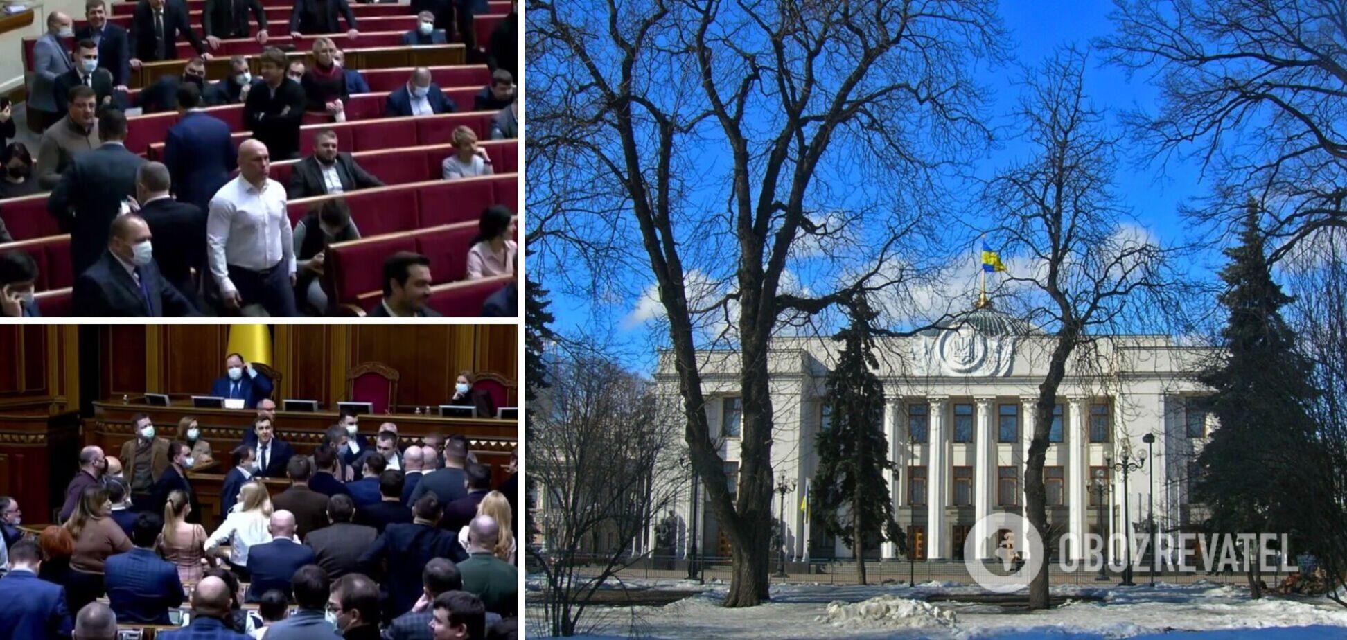 Нардепи не поділили трибуну в Раді через проросійські ЗМІ. Відео