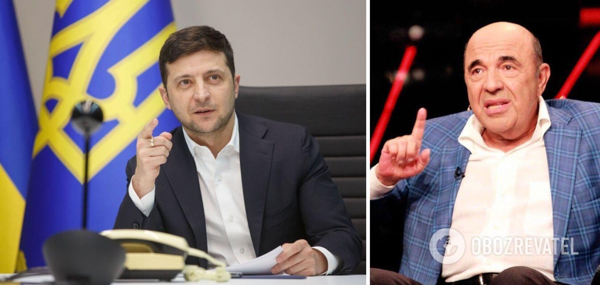 Володимир Зеленський і Вадим Рабінович