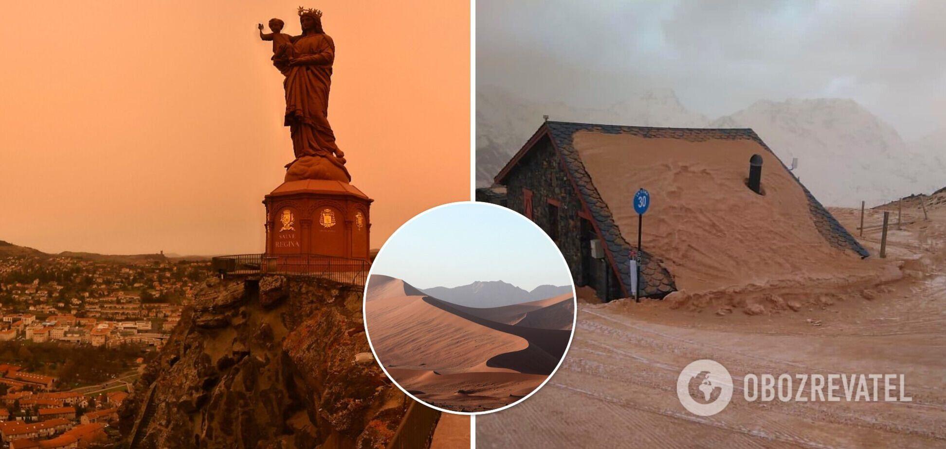 Францию засыпало песком из Сахары