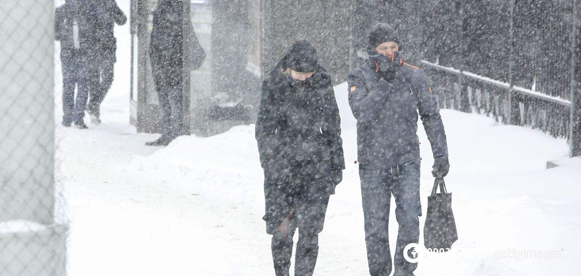 На Украину движется циклон: морозы до -24 и 40 см снега