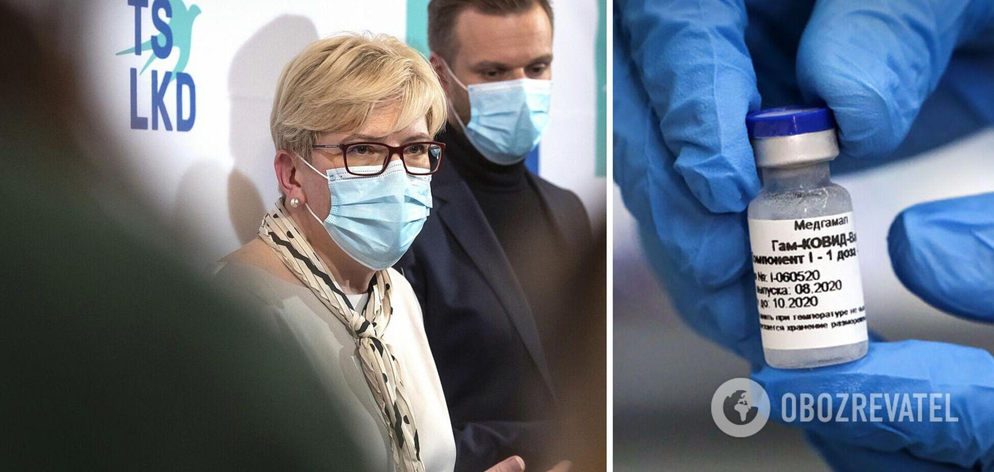 Премьер Литвы назвала российскую вакцину 'гибридным оружием' Путина